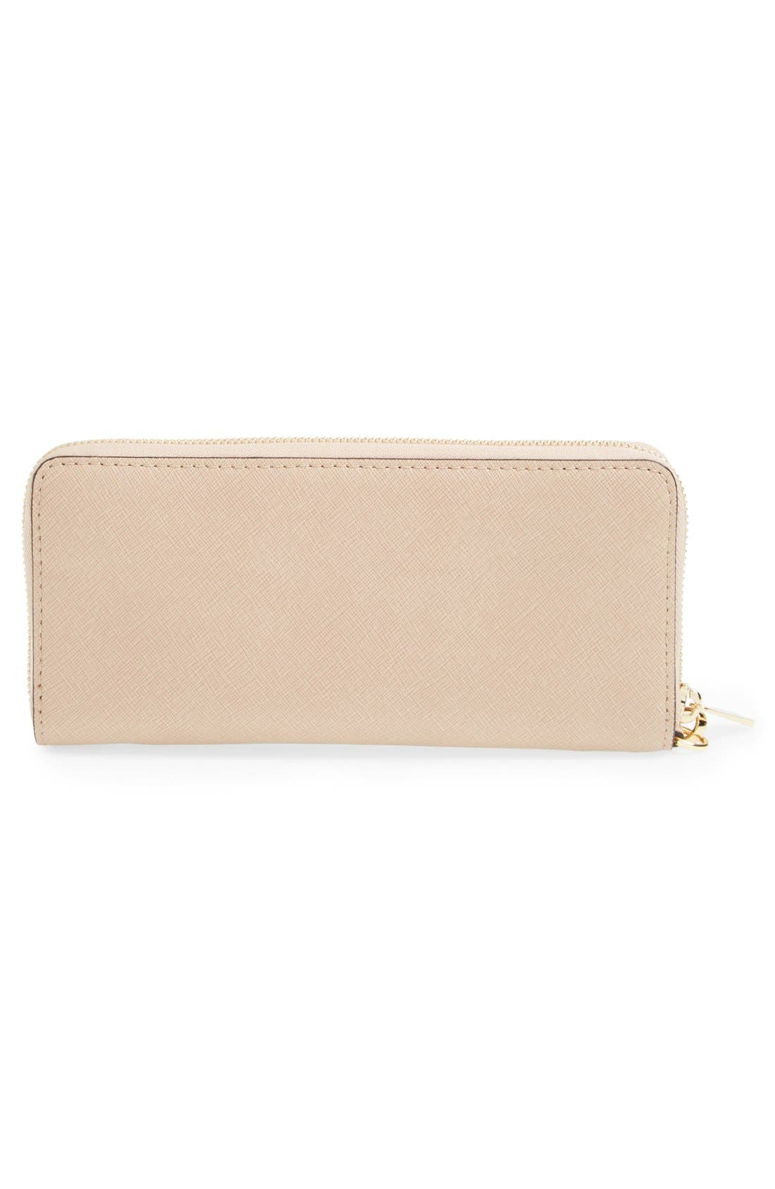 'Jet Set' Leather Travel Wallet,                             Alternate thumbnail 57, color,
