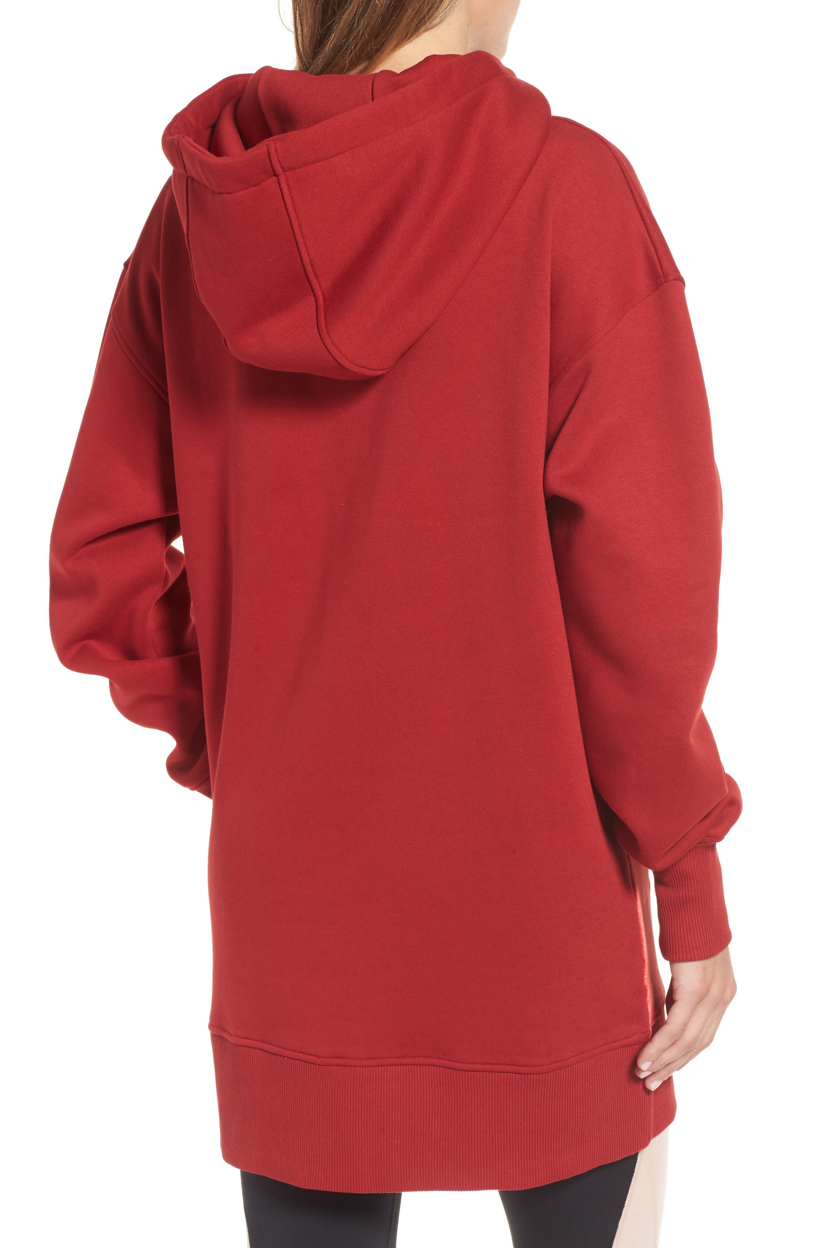 Oversize Velvet Logo Hoodie Dress,                             Alternate thumbnail 2, color,                             600