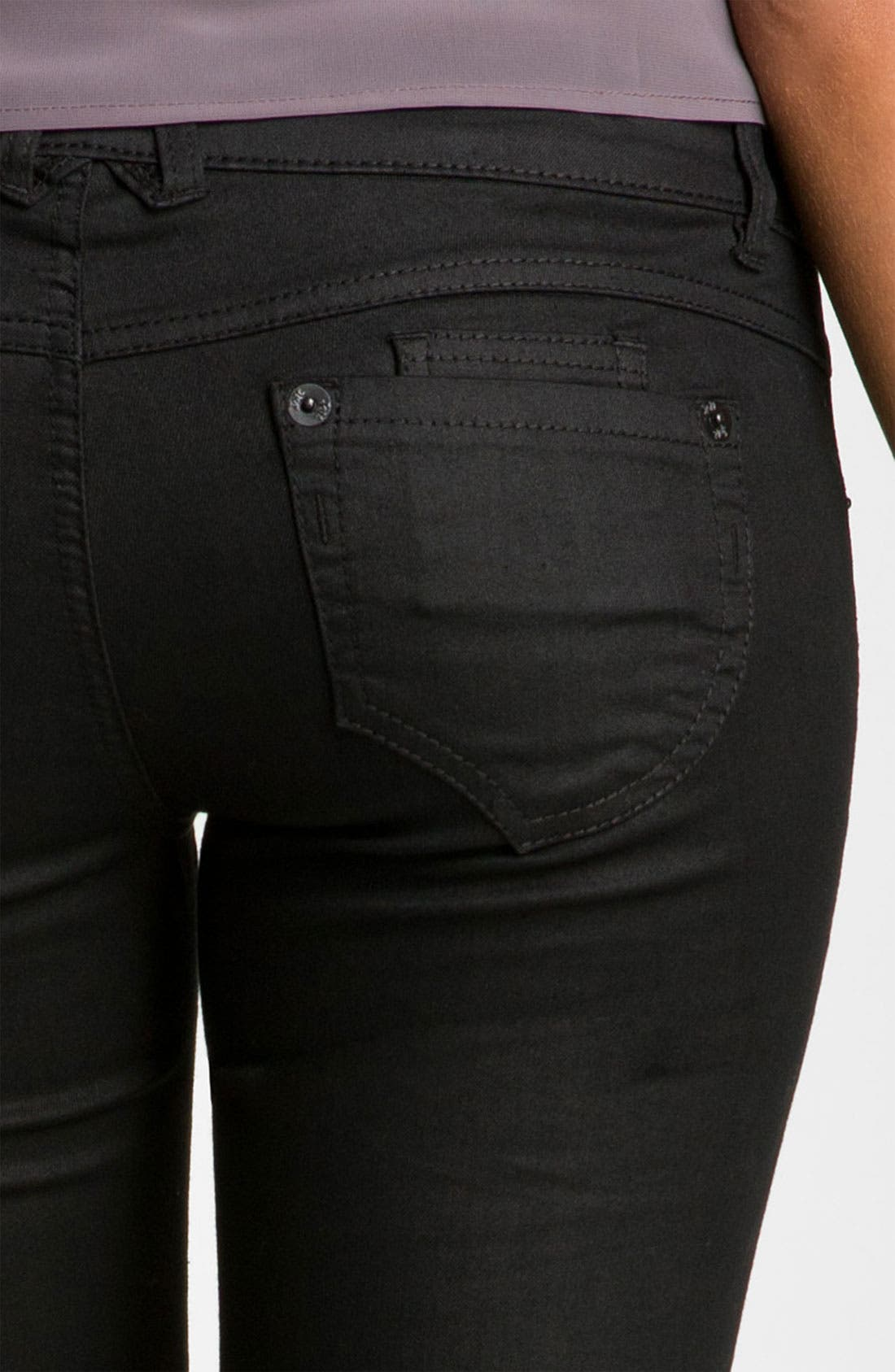 Skinny Coated Jeans,                             Alternate thumbnail 3, color,                             001