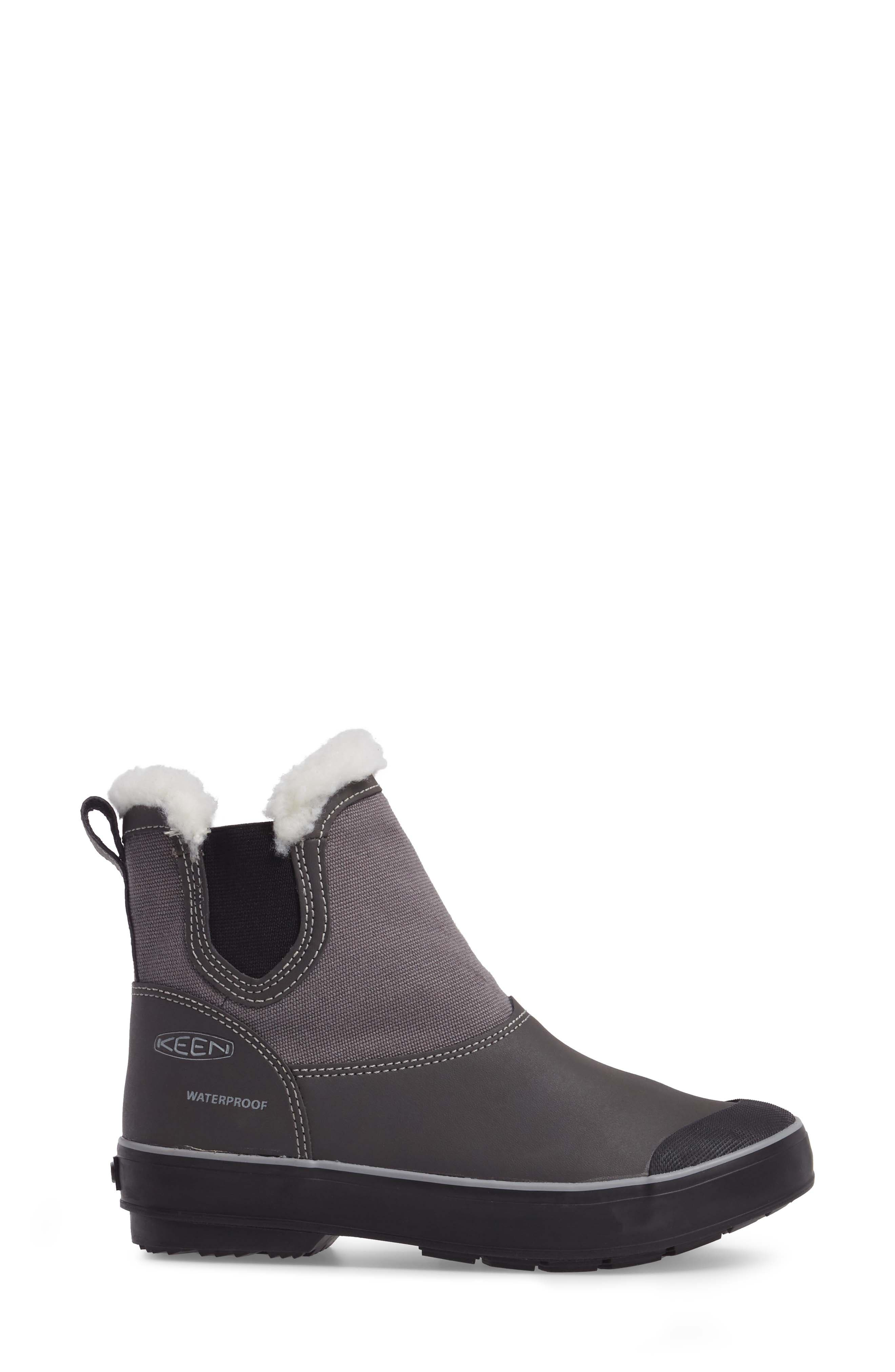 Elsa Chelsea Waterproof Faux Fur Lined Boot,                             Alternate thumbnail 11, color,