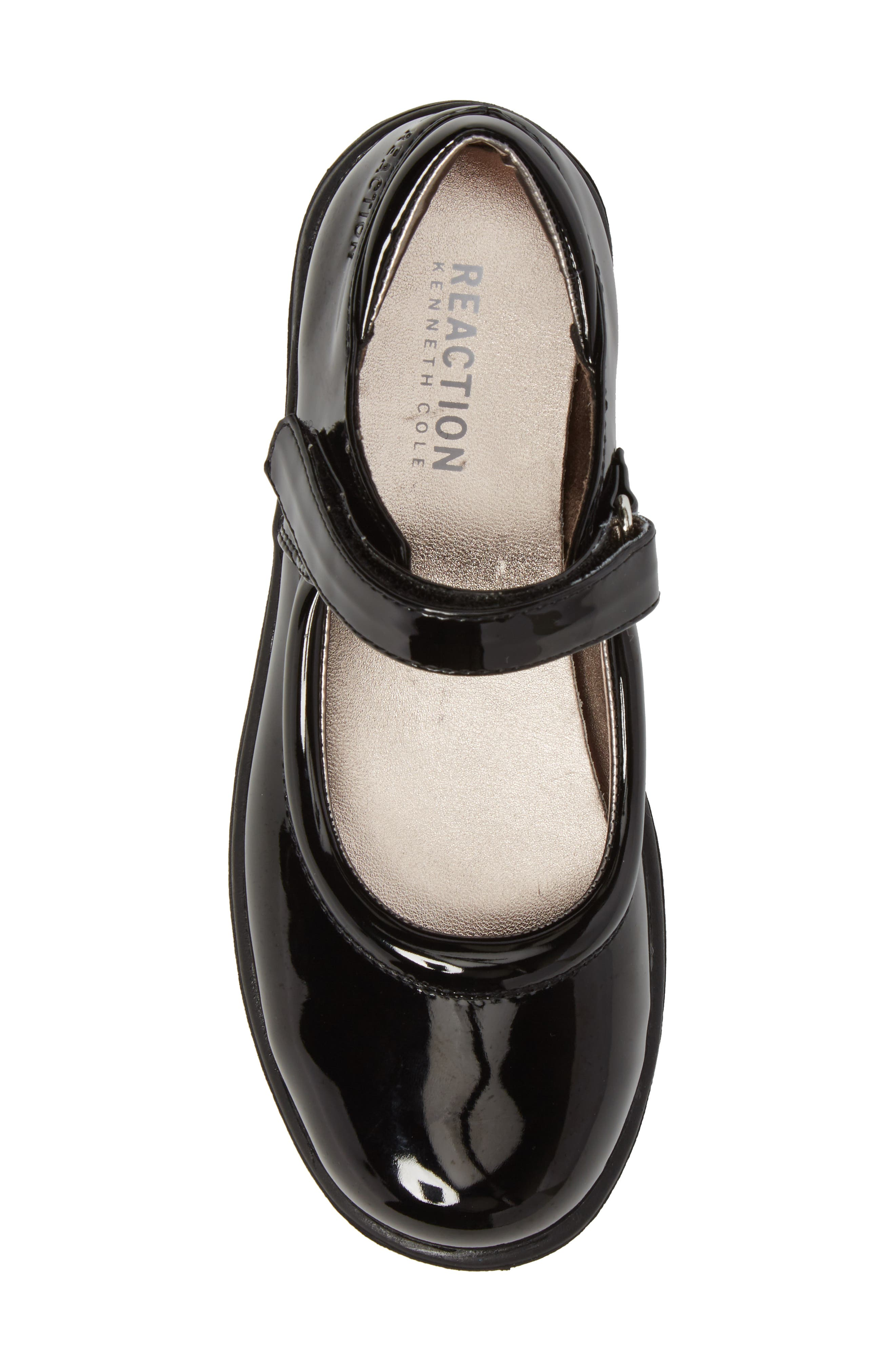 Dolly School Mary Jane,                             Alternate thumbnail 5, color,                             BLACK FAUX PATENT