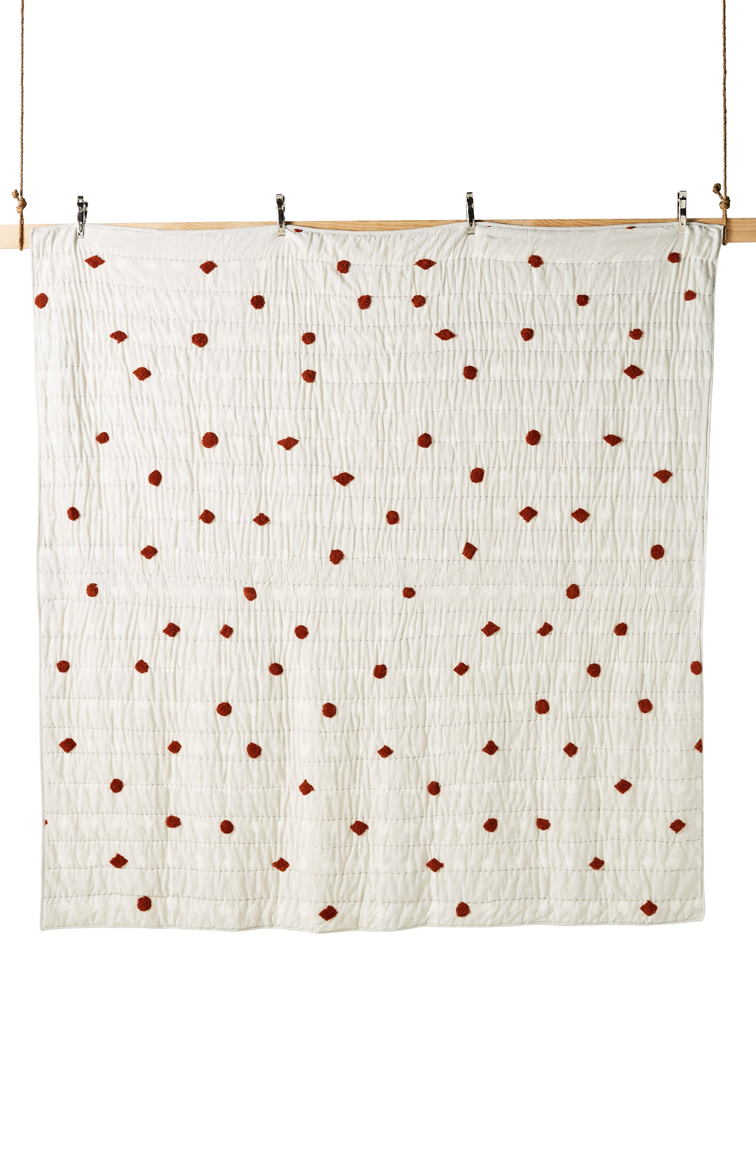 ANTHROPOLOGIE,                             Mesa Tufted Quilt,                             Alternate thumbnail 5, color,                             RUST