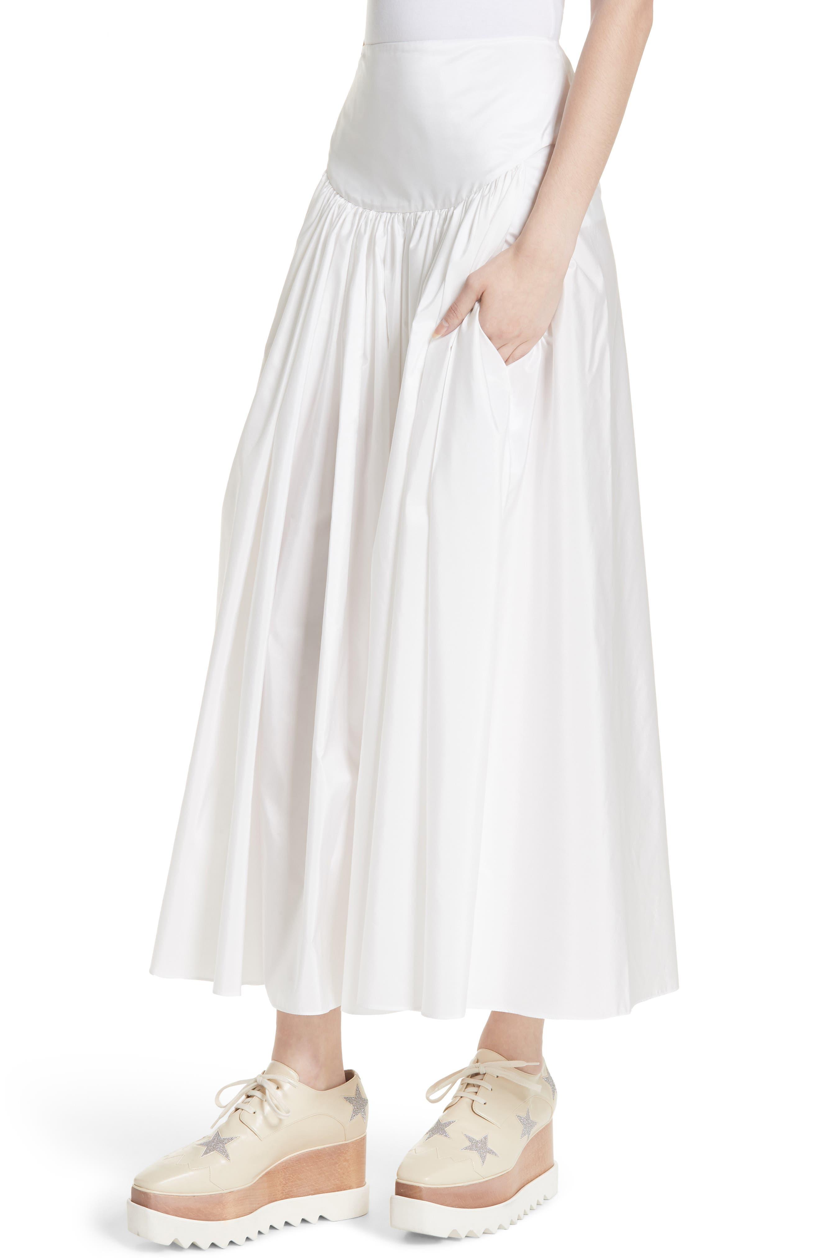 Taffeta Maxi Skirt,                             Alternate thumbnail 4, color,                             100