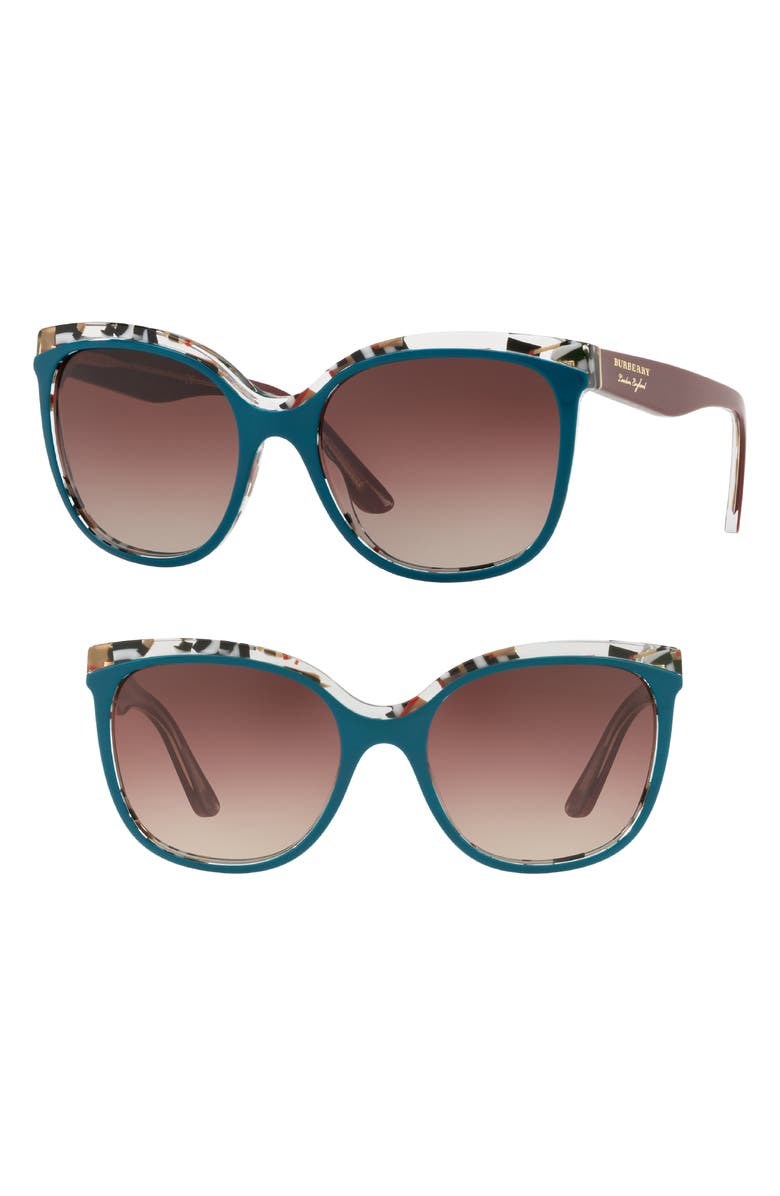 20ec81c2ed6 Burberry Marblecheck 55mm Square Sunglasses