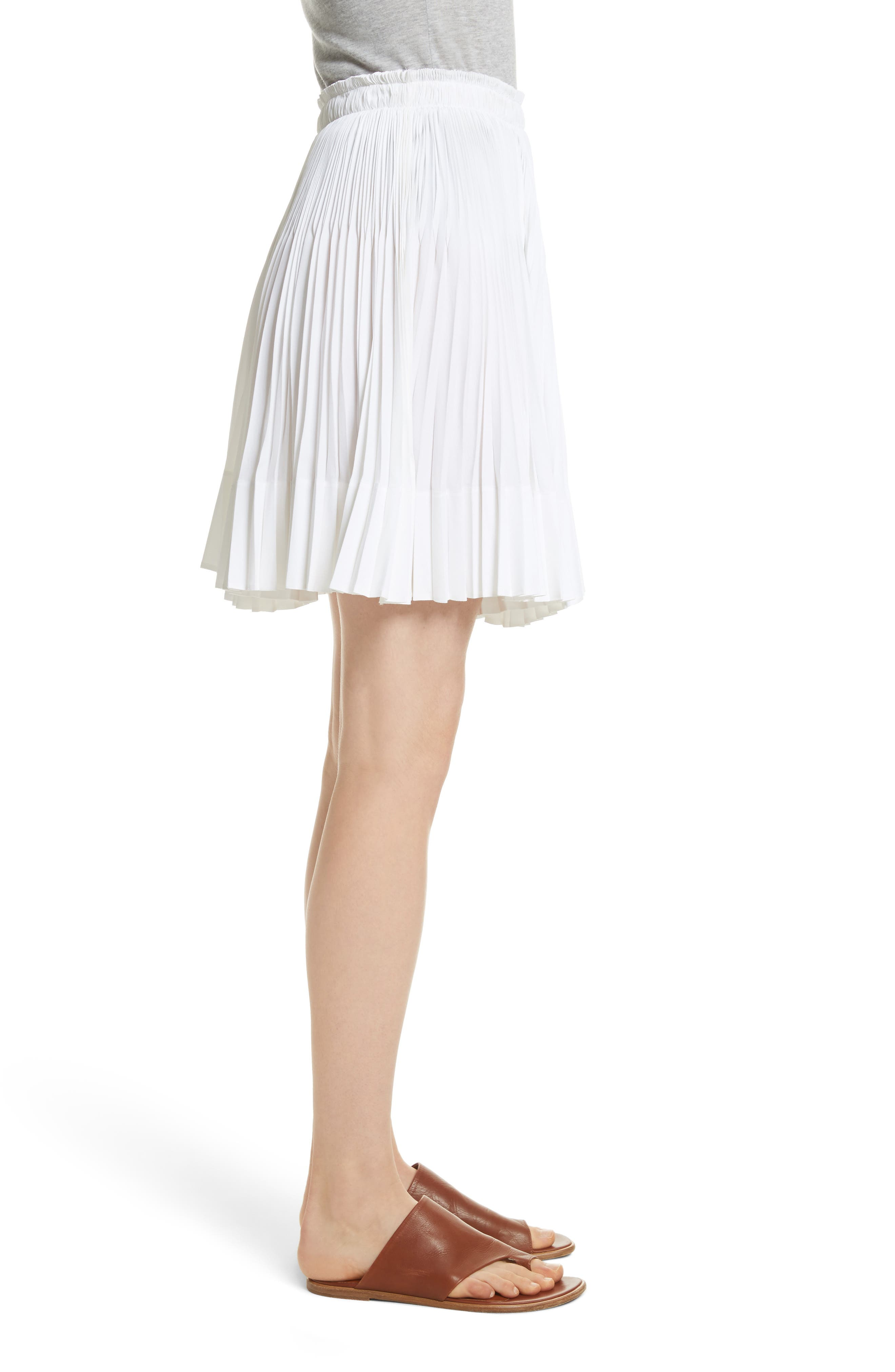 VINCE,                             Multi Pleat Skirt,                             Alternate thumbnail 3, color,                             137
