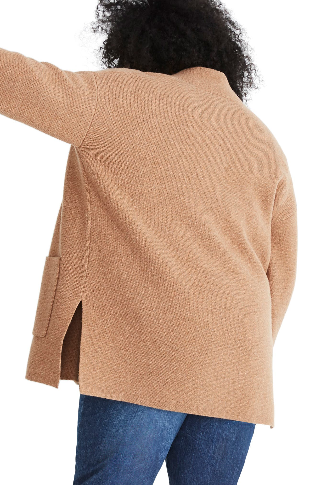 Shop Madewell Spencer Sweater Coat In Heather Caramel