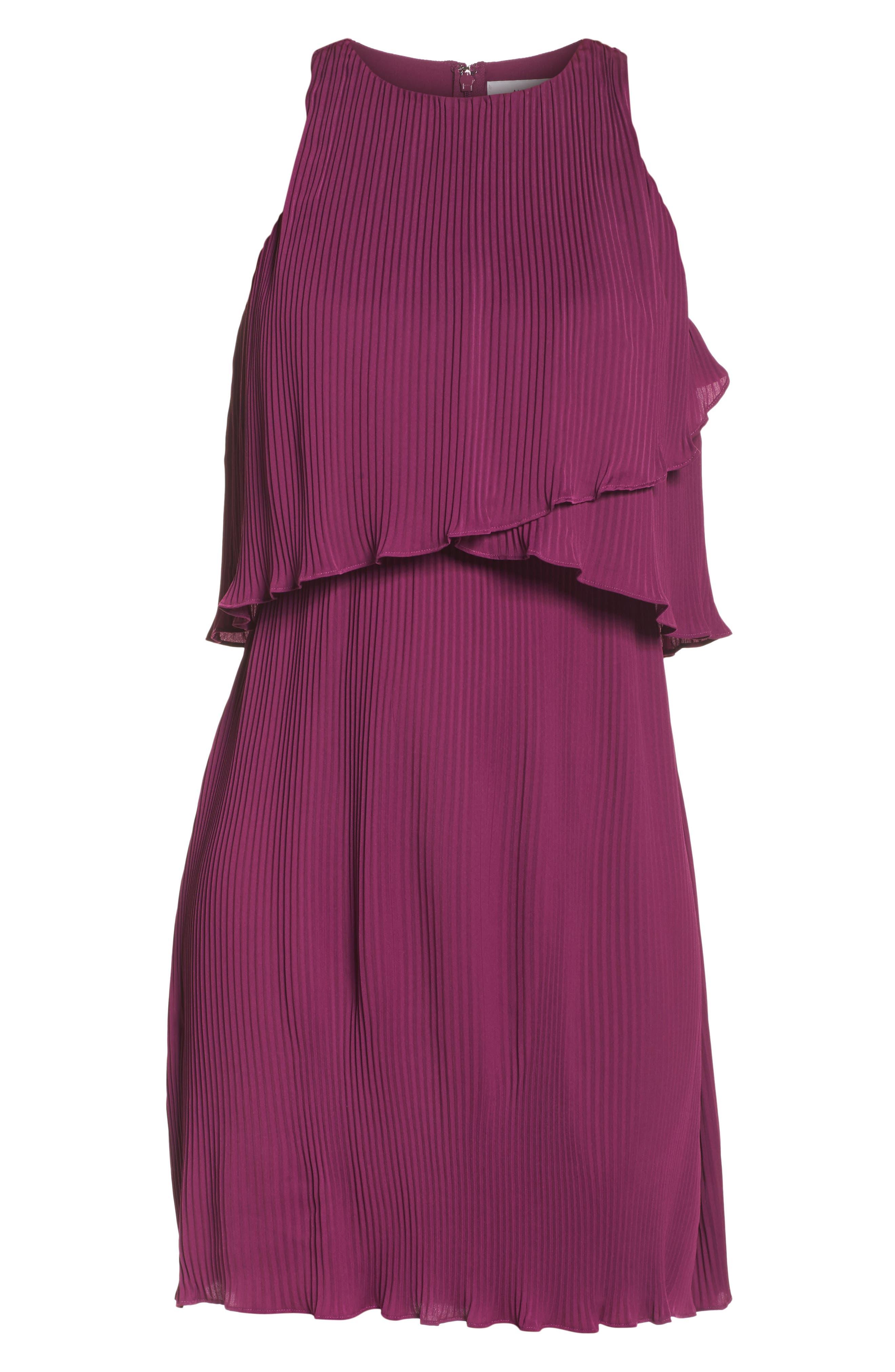 Mademoiselle Ruffle Swing Dress,                             Alternate thumbnail 6, color,