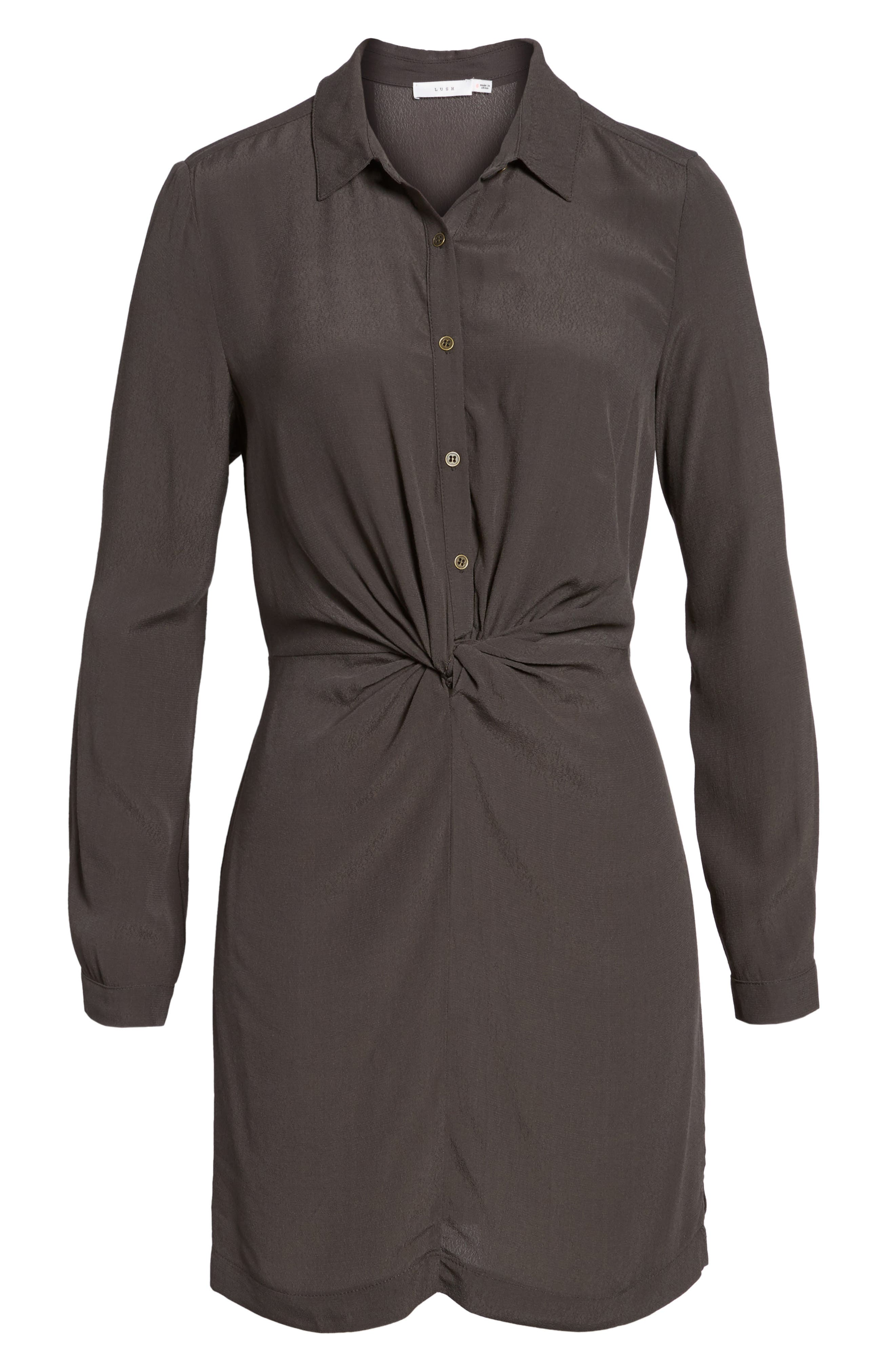Twisted Shirtdress,                             Alternate thumbnail 5, color,                             022