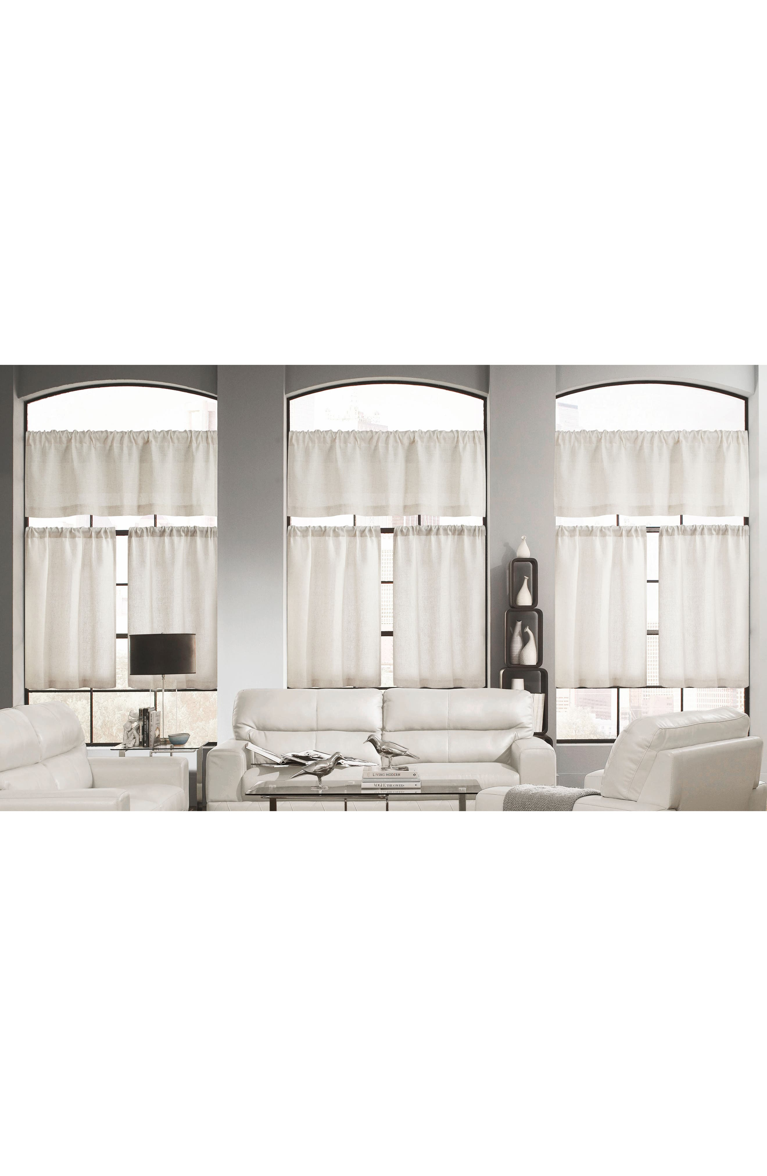 Katness Set of 3 Tiered Small Pole Top Window Panels,                             Main thumbnail 3, color,