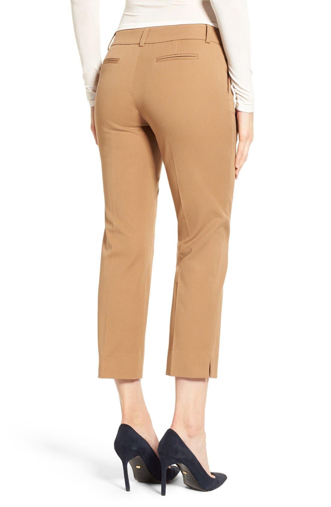 Crop Stretch Cotton Pants,                             Alternate thumbnail 31, color,