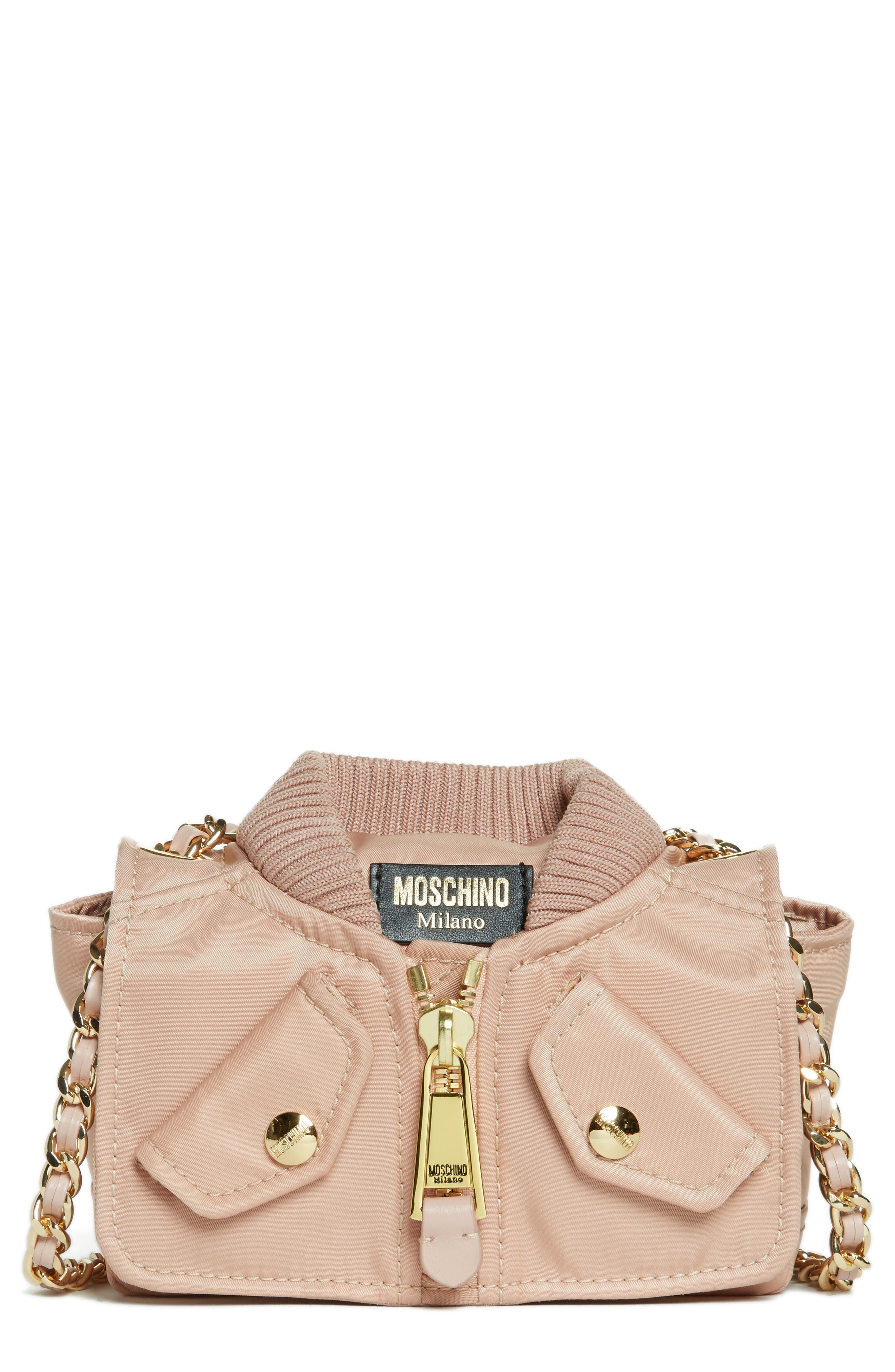 Small Biker Jacket Nylon Shoulder Bag,                         Main,                         color, 683