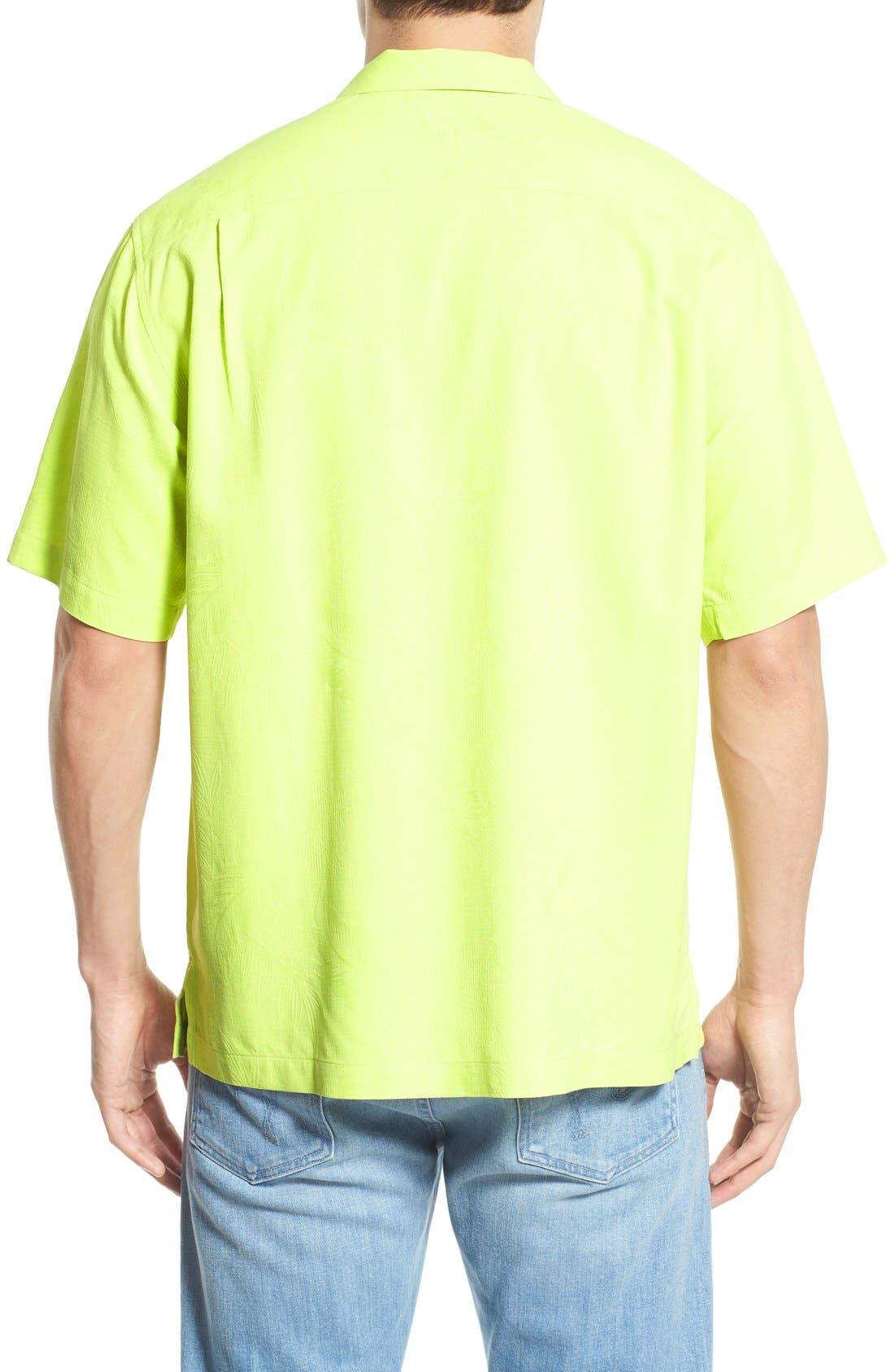 Rio Fronds Short Sleeve Silk Sport Shirt,                             Alternate thumbnail 22, color,