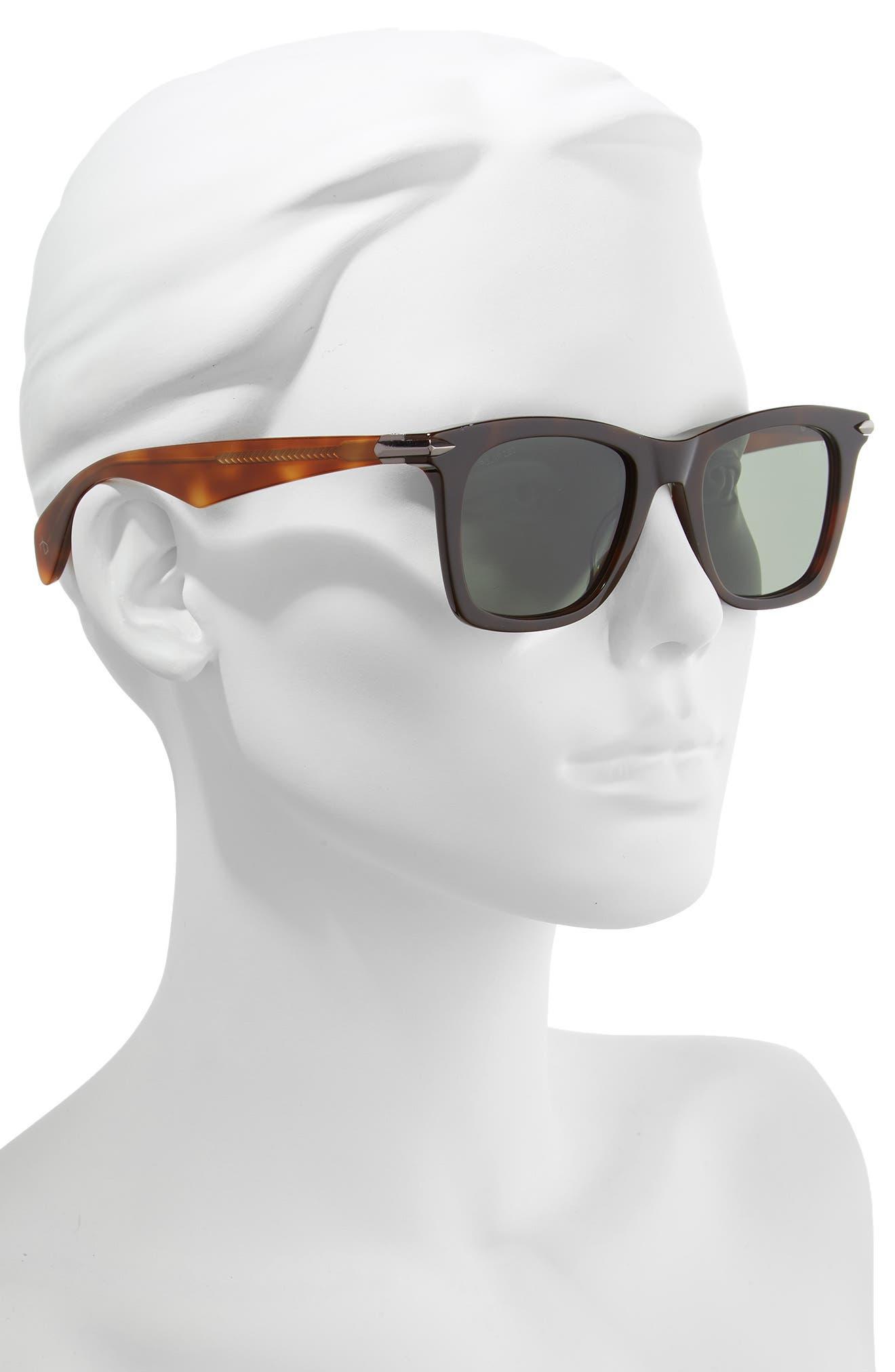 Core 51mm Polarized Sunglasses,                             Alternate thumbnail 2, color,                             DARK/ HAVANA