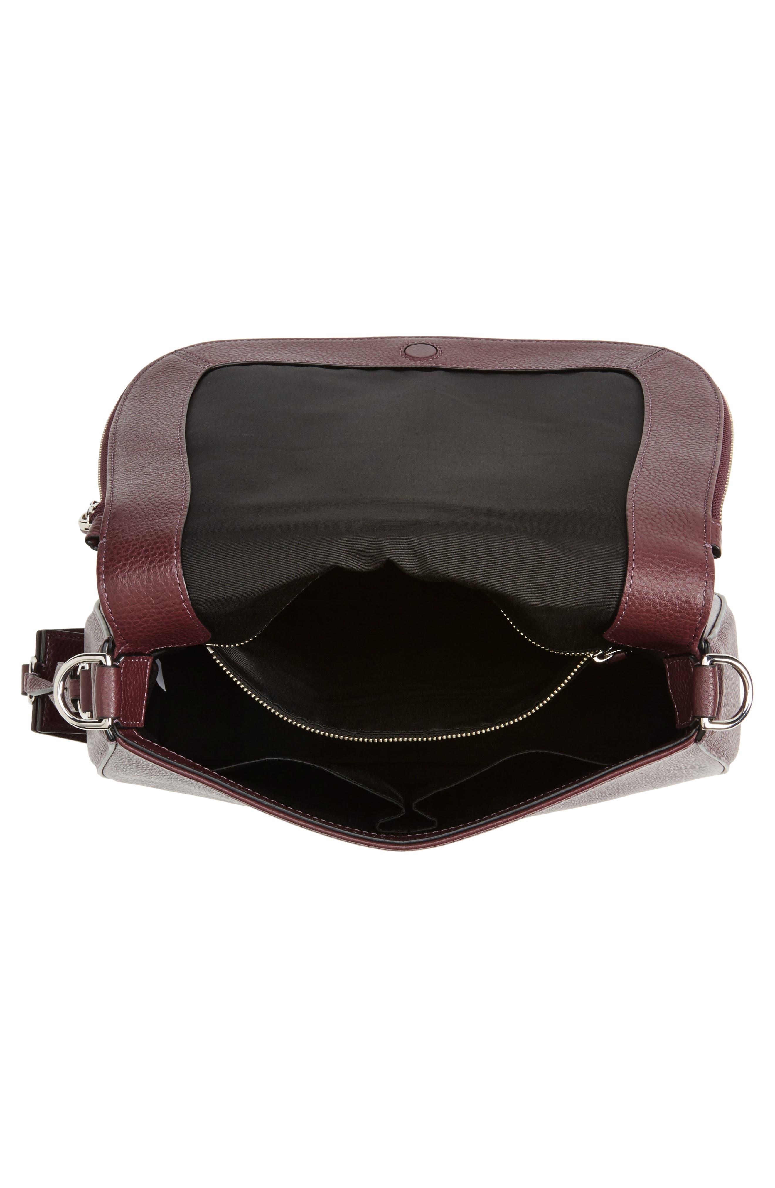 Recruit Nomad Pebbled Leather Crossbody Bag,                             Alternate thumbnail 4, color,                             538