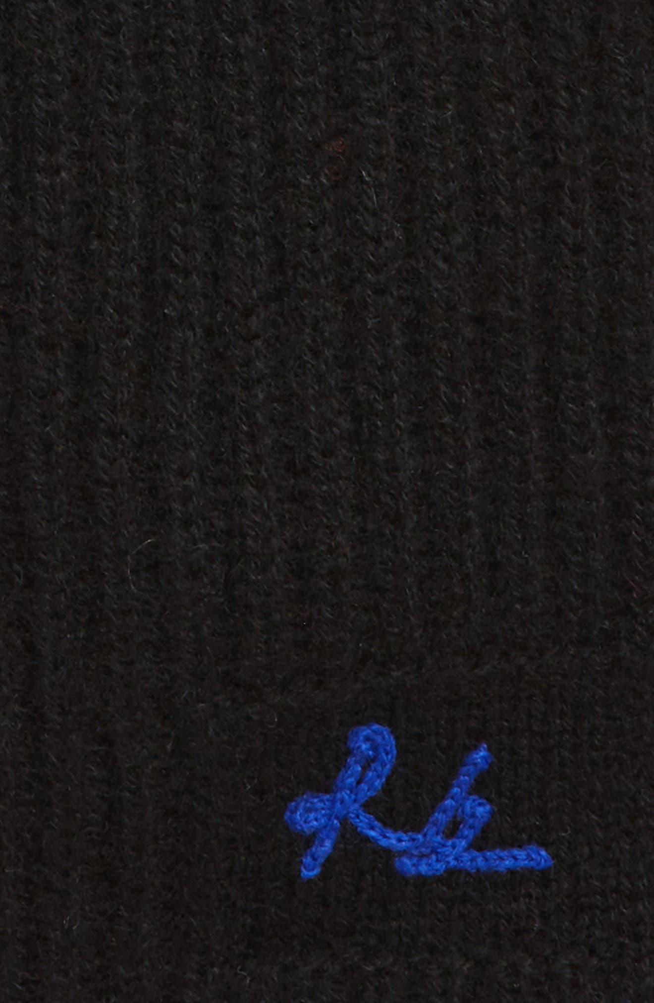Yorke Cashmere Beanie,                             Alternate thumbnail 3, color,                             BLACK