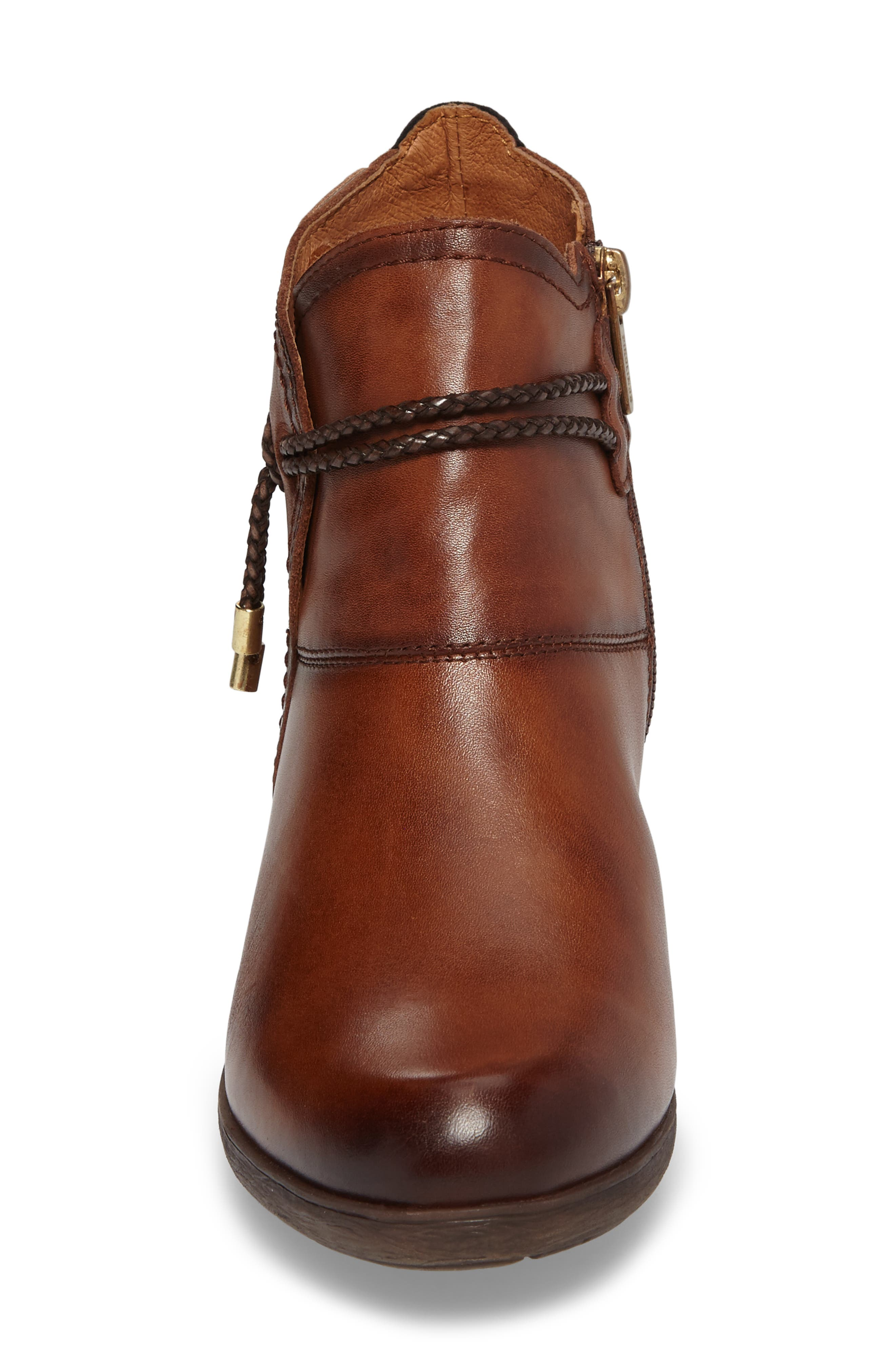 'Rotterdam' Braid Strap Bootie,                             Alternate thumbnail 4, color,                             CUERO BROWN OLMO LEATHER