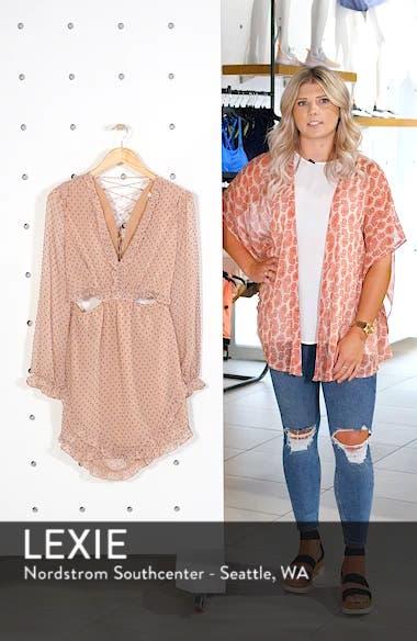 Allegria Lace-Up Minidress, sales video thumbnail