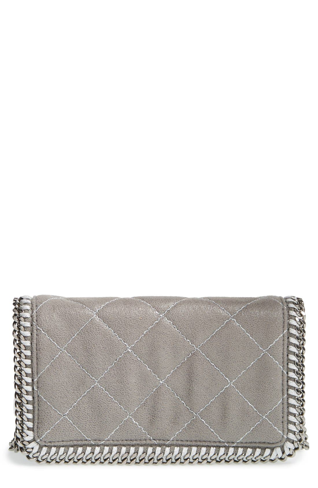 'Falabella' Quilted Faux Leather Crossbody Bag,                             Main thumbnail 3, color,