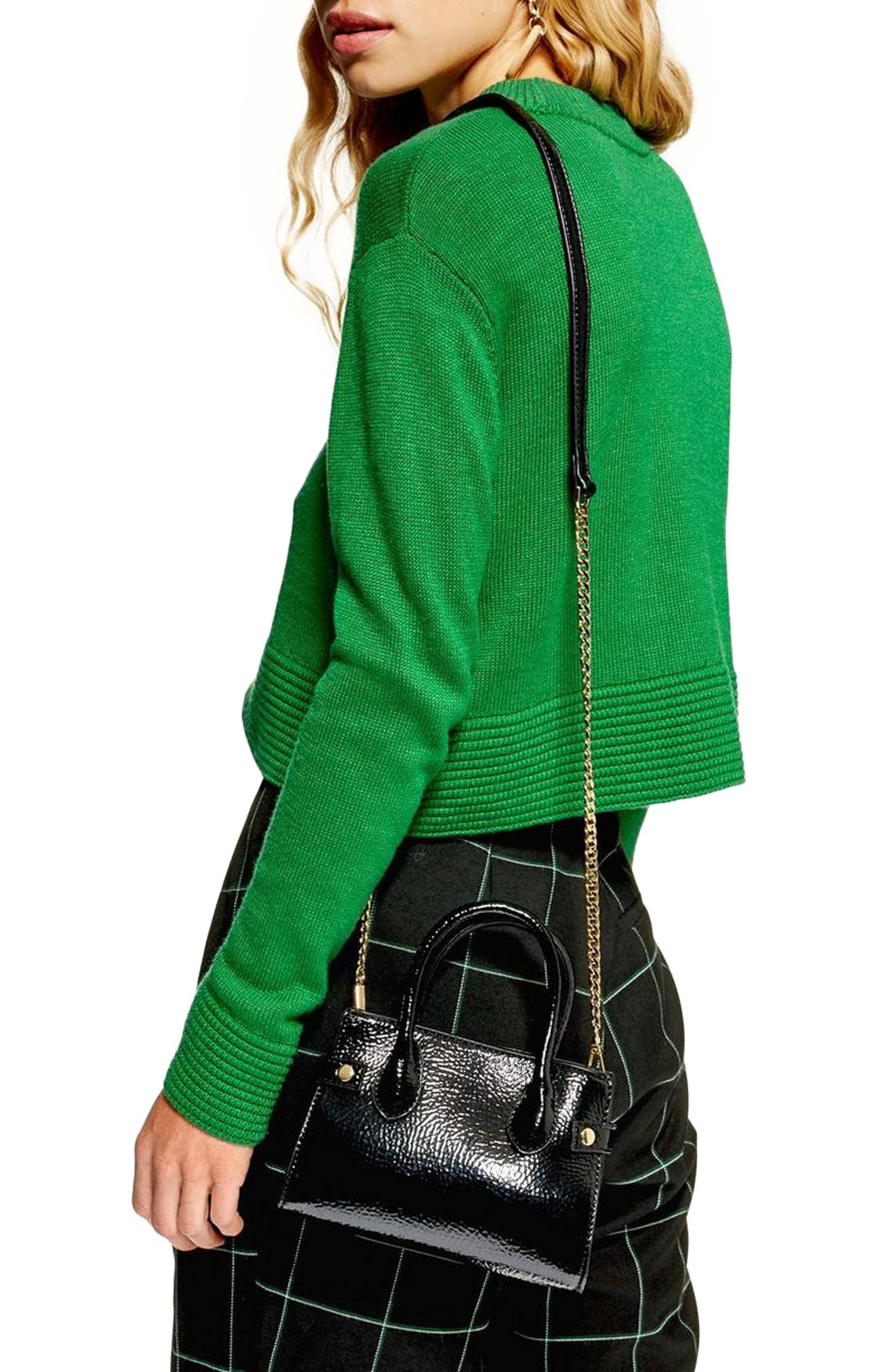 Cash Ottoman Crop Sweater,                             Alternate thumbnail 2, color,                             GREEN