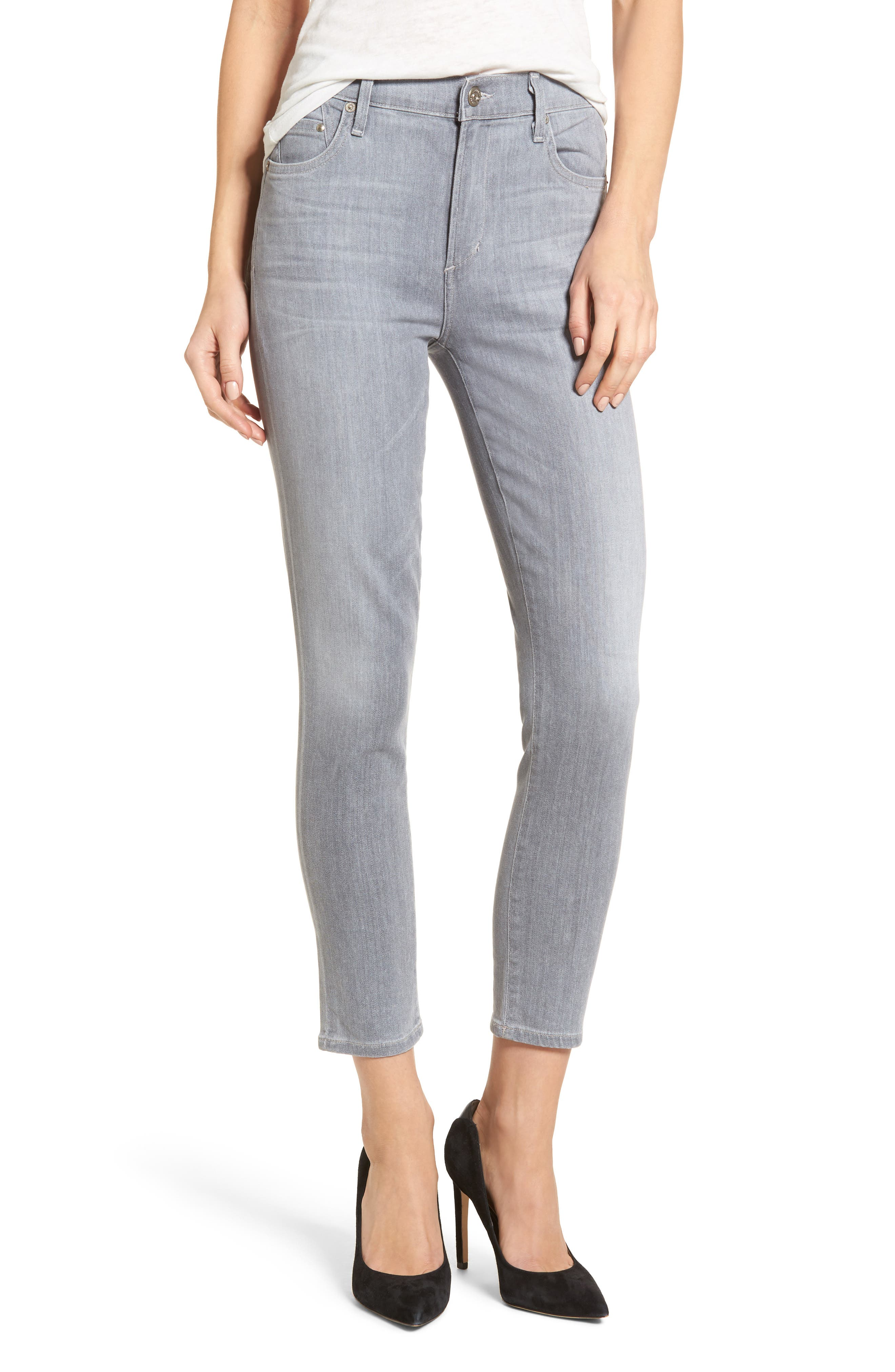 Rocket High Waist Crop Skinny Jeans,                             Main thumbnail 1, color,                             056