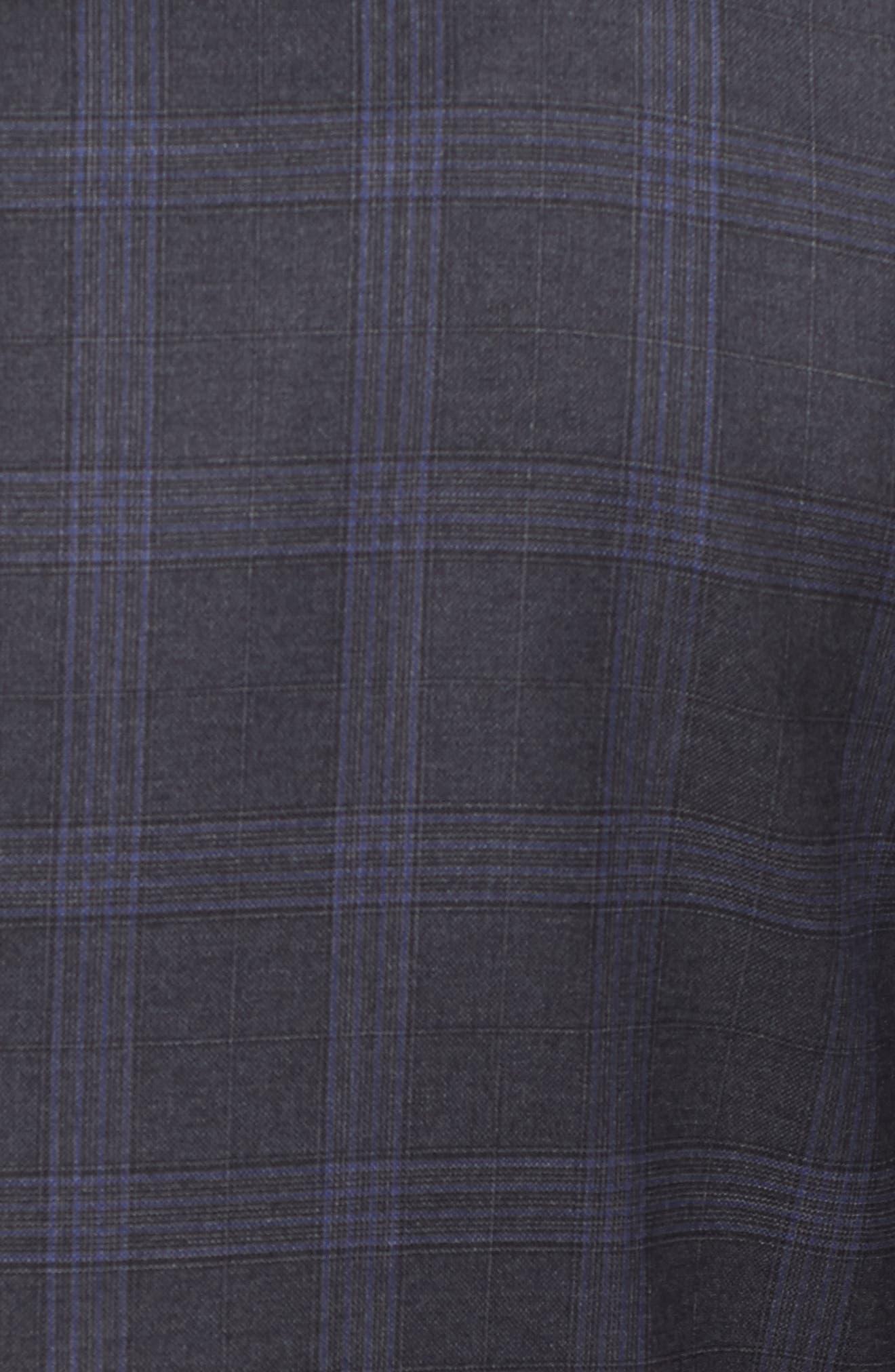 Classic Fit Plaid Wool Suit,                             Alternate thumbnail 7, color,                             020