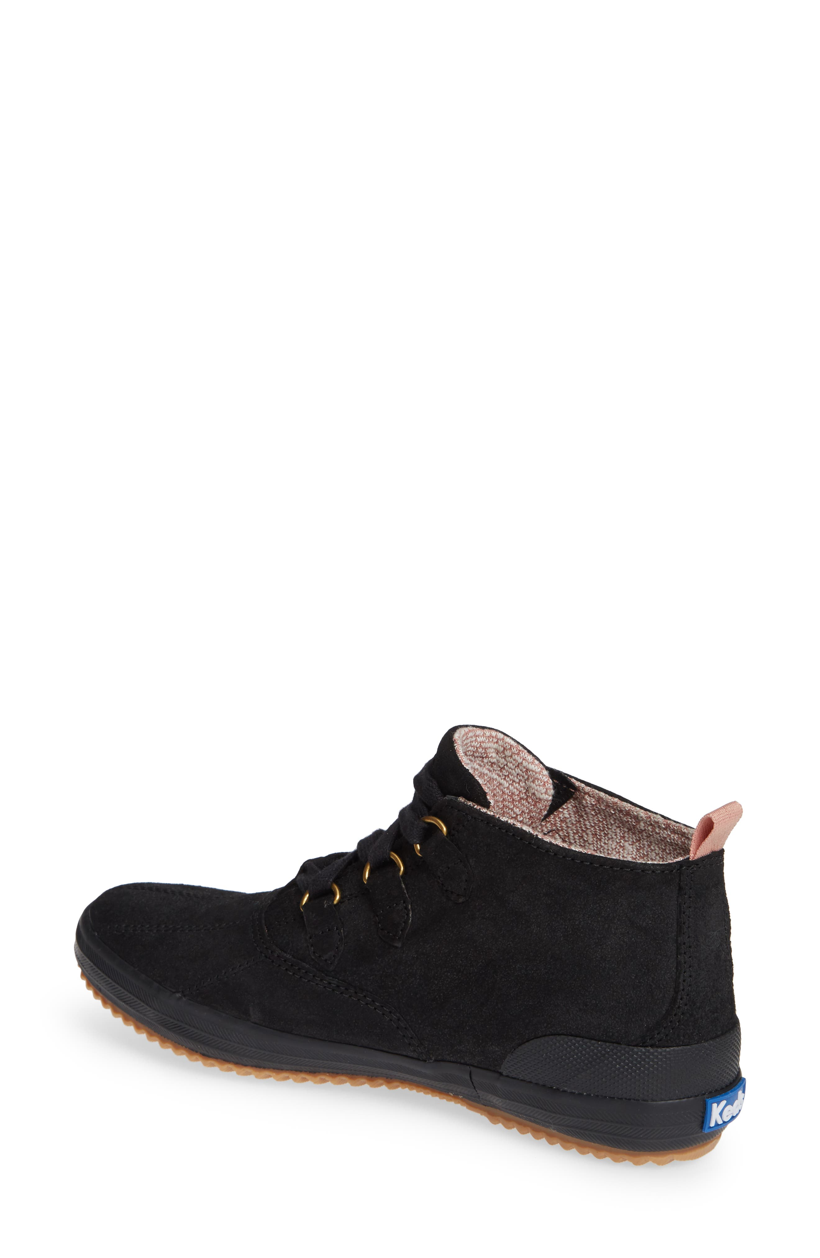 Scout Chukka Boot,                             Alternate thumbnail 2, color,                             BLACK SUEDE