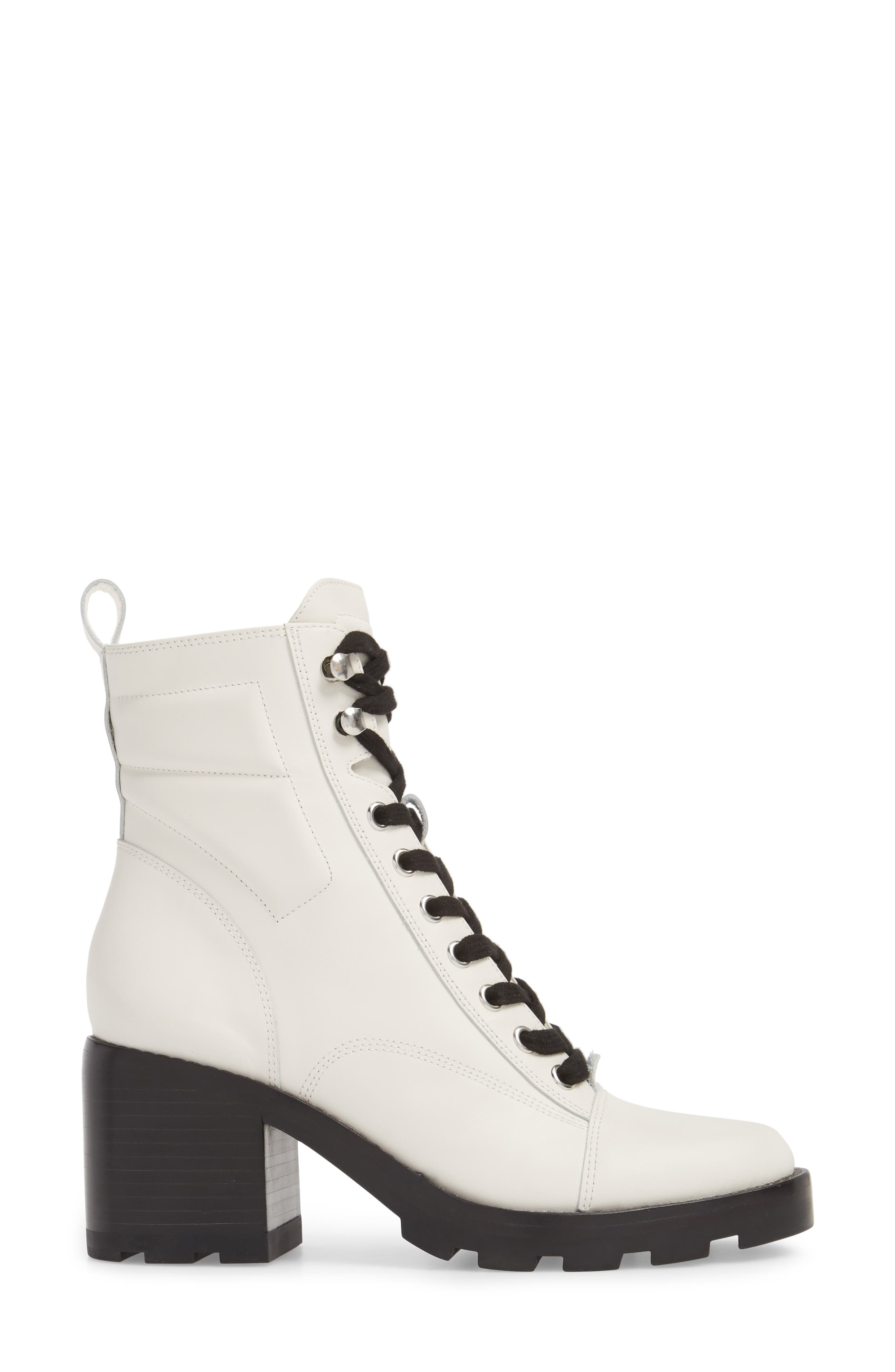 Warid Moto Bootie,                             Alternate thumbnail 3, color,                             IVORY LEATHER