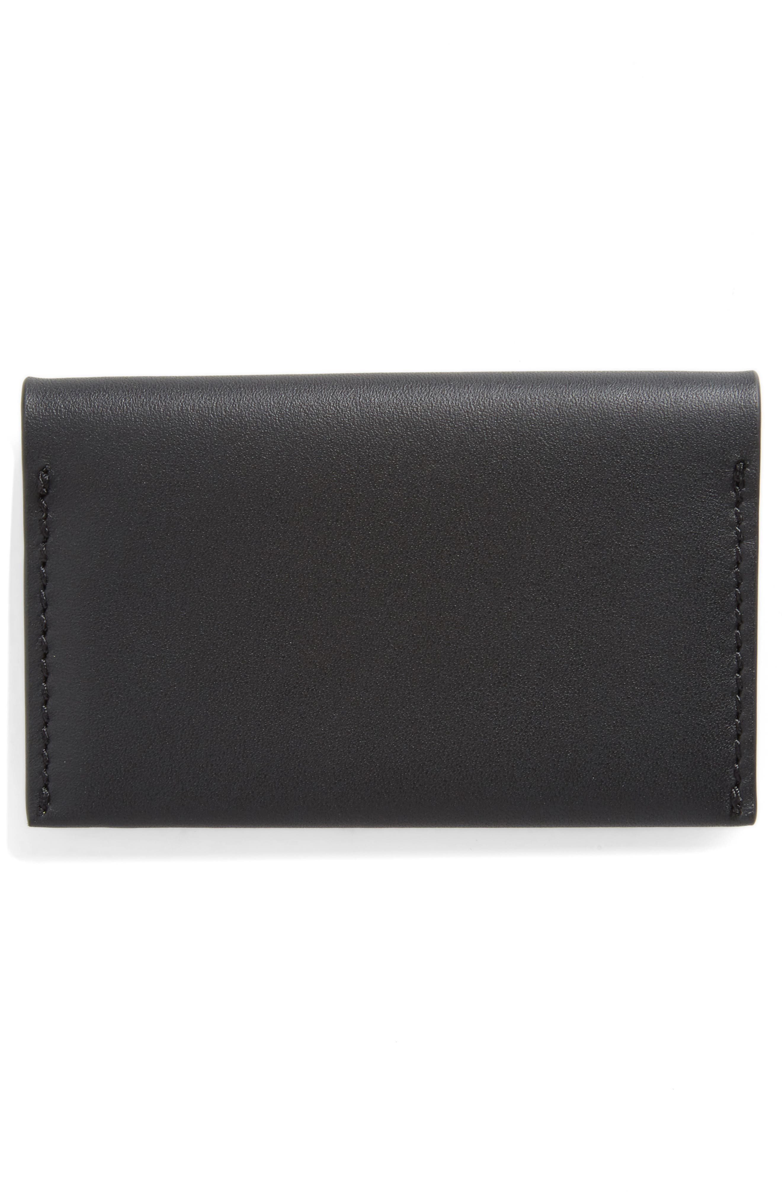 Leather Card Case,                             Alternate thumbnail 3, color,                             001