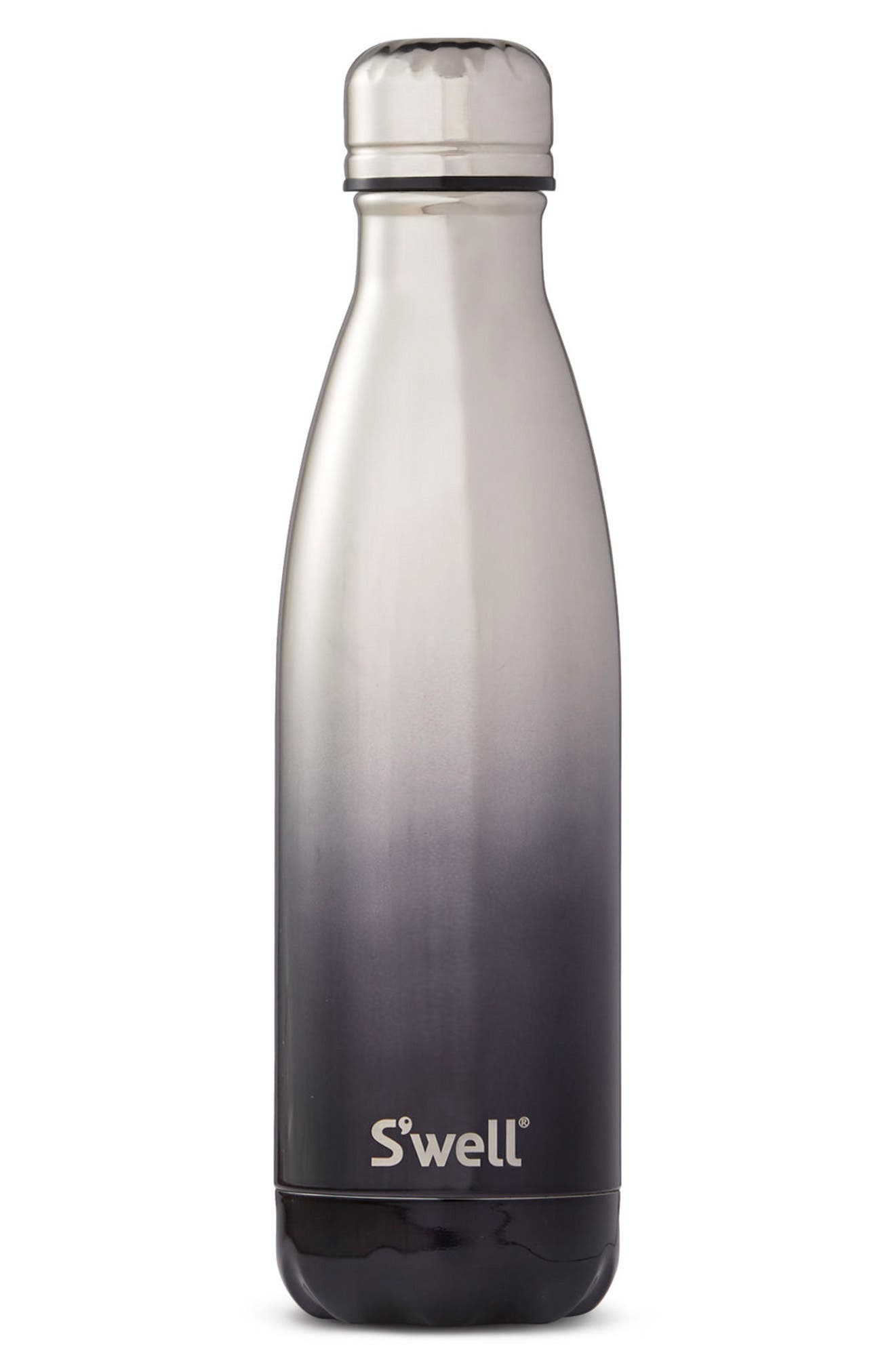 White Gold Ombré Insulated Stainless Steel Water Bottle,                             Main thumbnail 1, color,