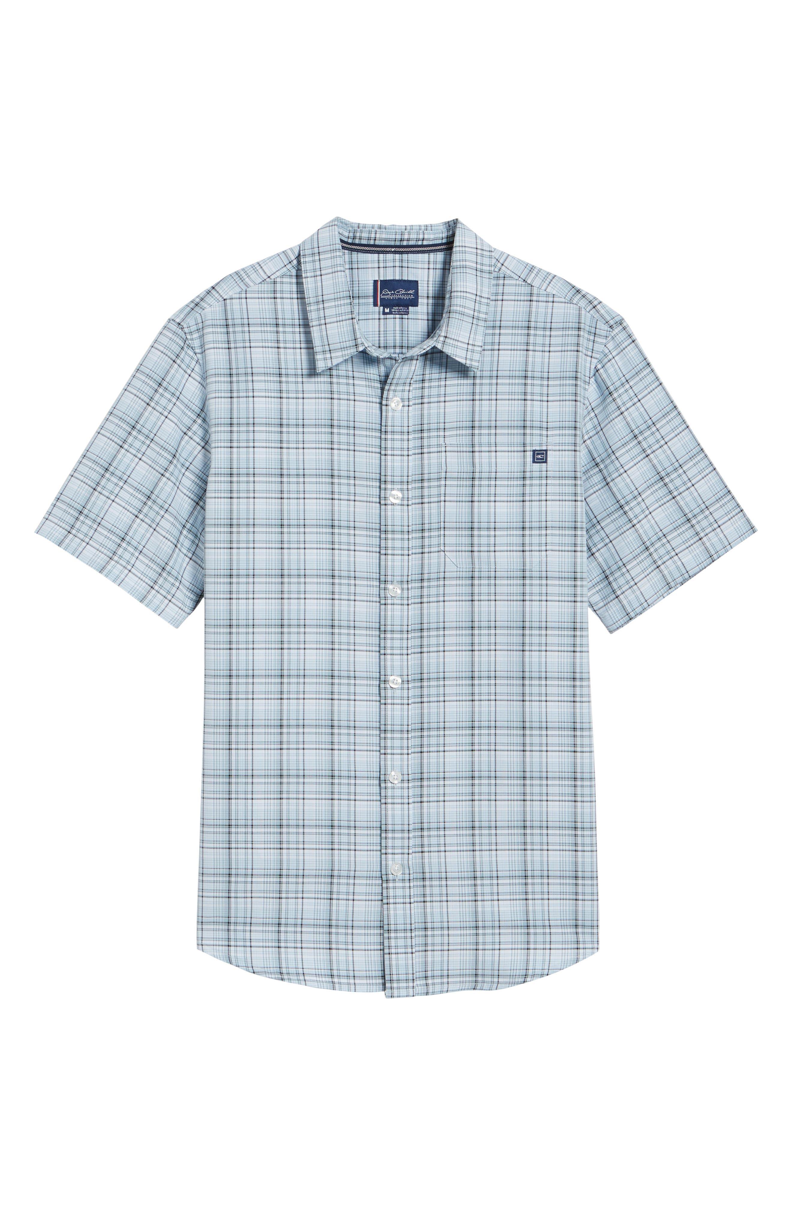 Shores Plaid Sport Shirt,                             Alternate thumbnail 6, color,                             400