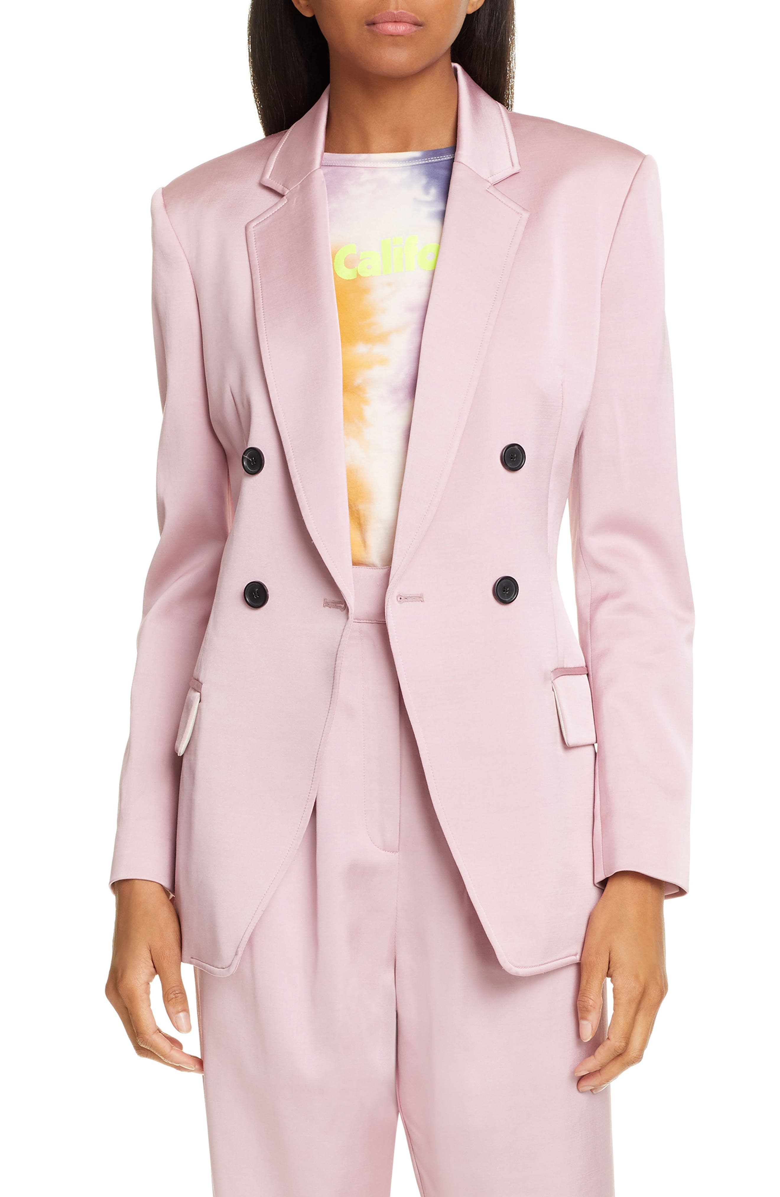 A.L.C.,                             Sedgewick Double Breasted Suiting Jacket,                             Main thumbnail 1, color,                             DUSTY ROSE