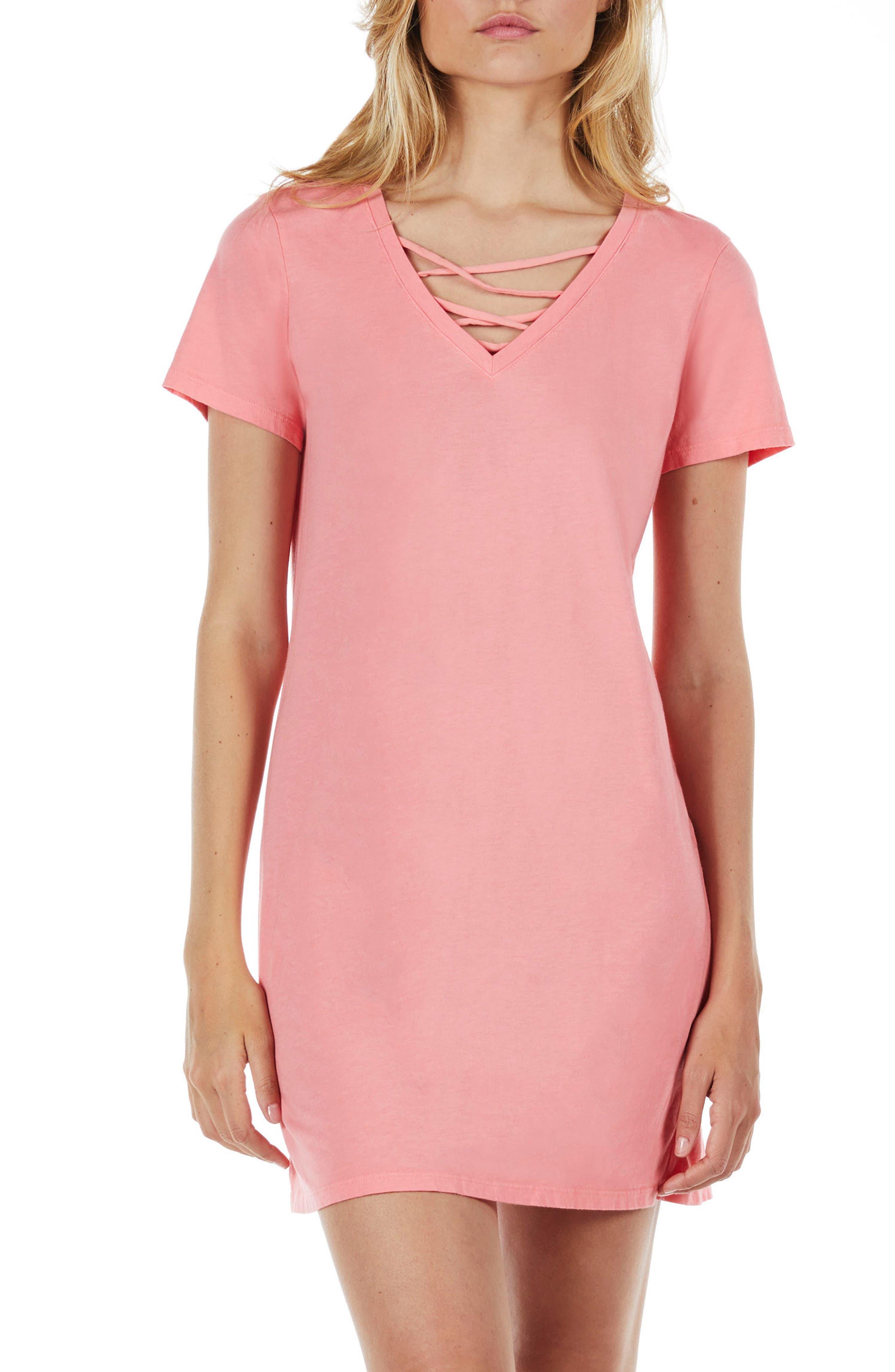 Strappy V-Neck Shift Dress,                             Alternate thumbnail 9, color,