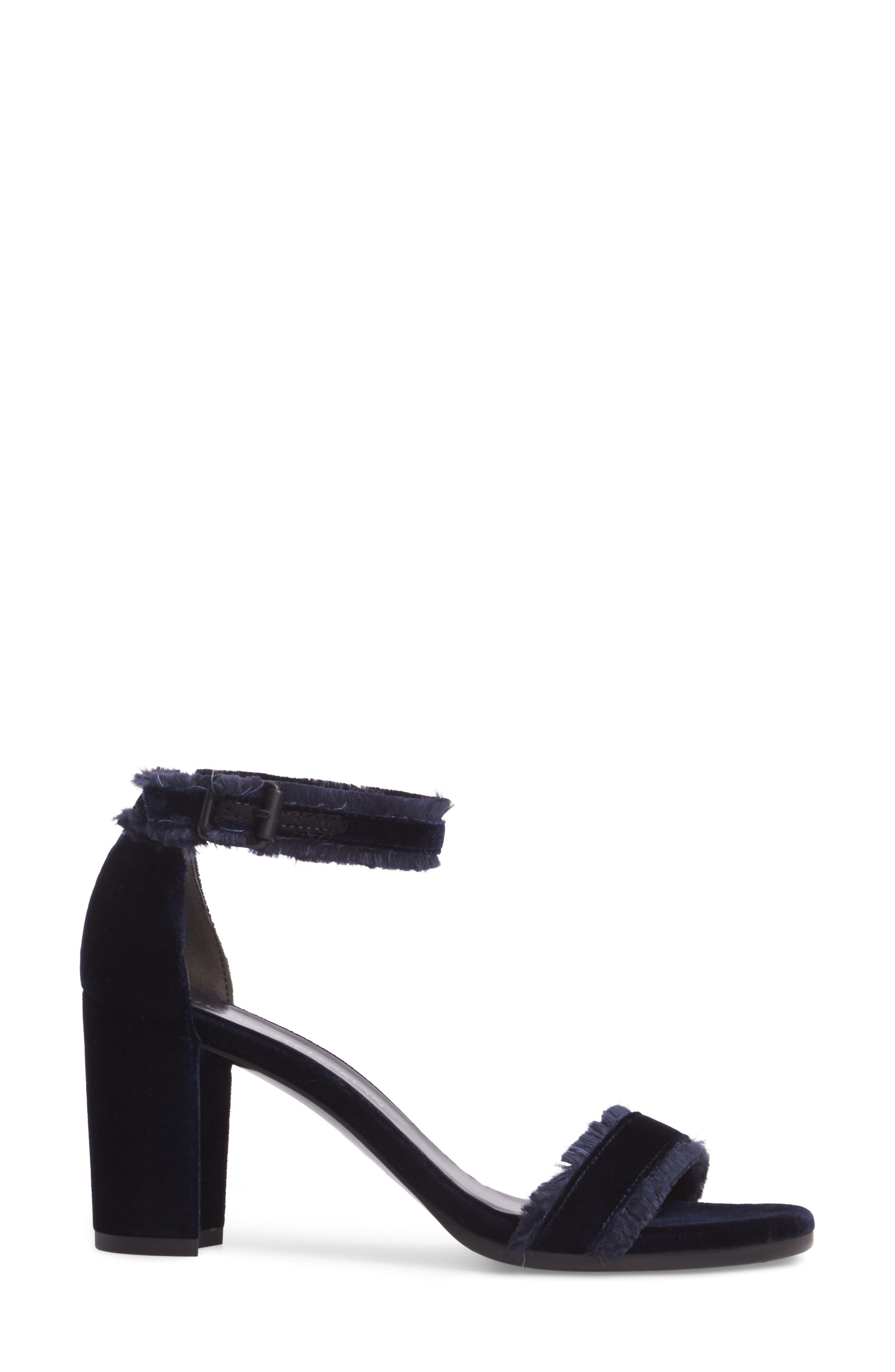 Frayed Ankle Strap Sandal,                             Alternate thumbnail 3, color,                             410