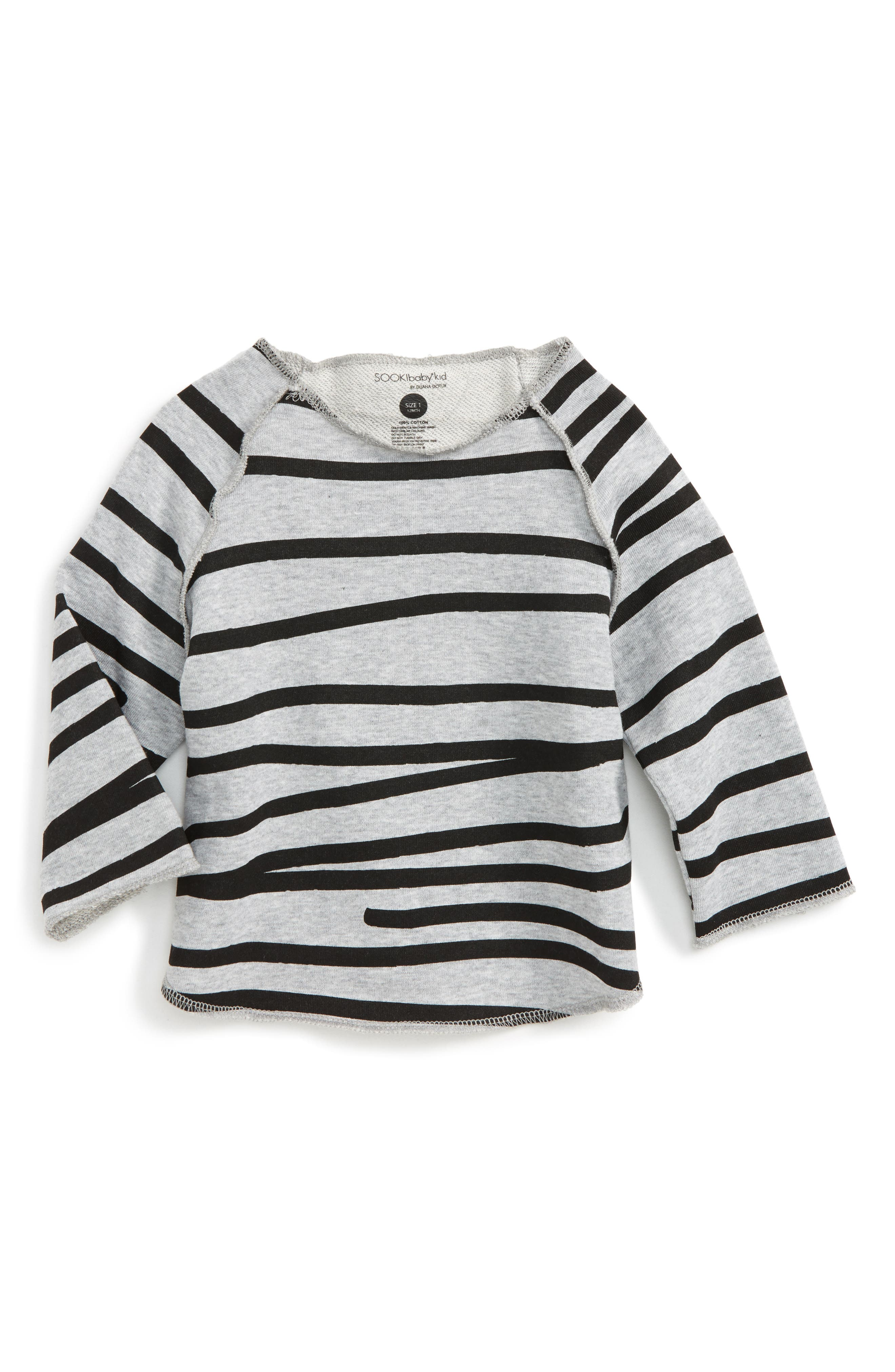 Relaxed Stripe Sweatshirt,                             Main thumbnail 1, color,