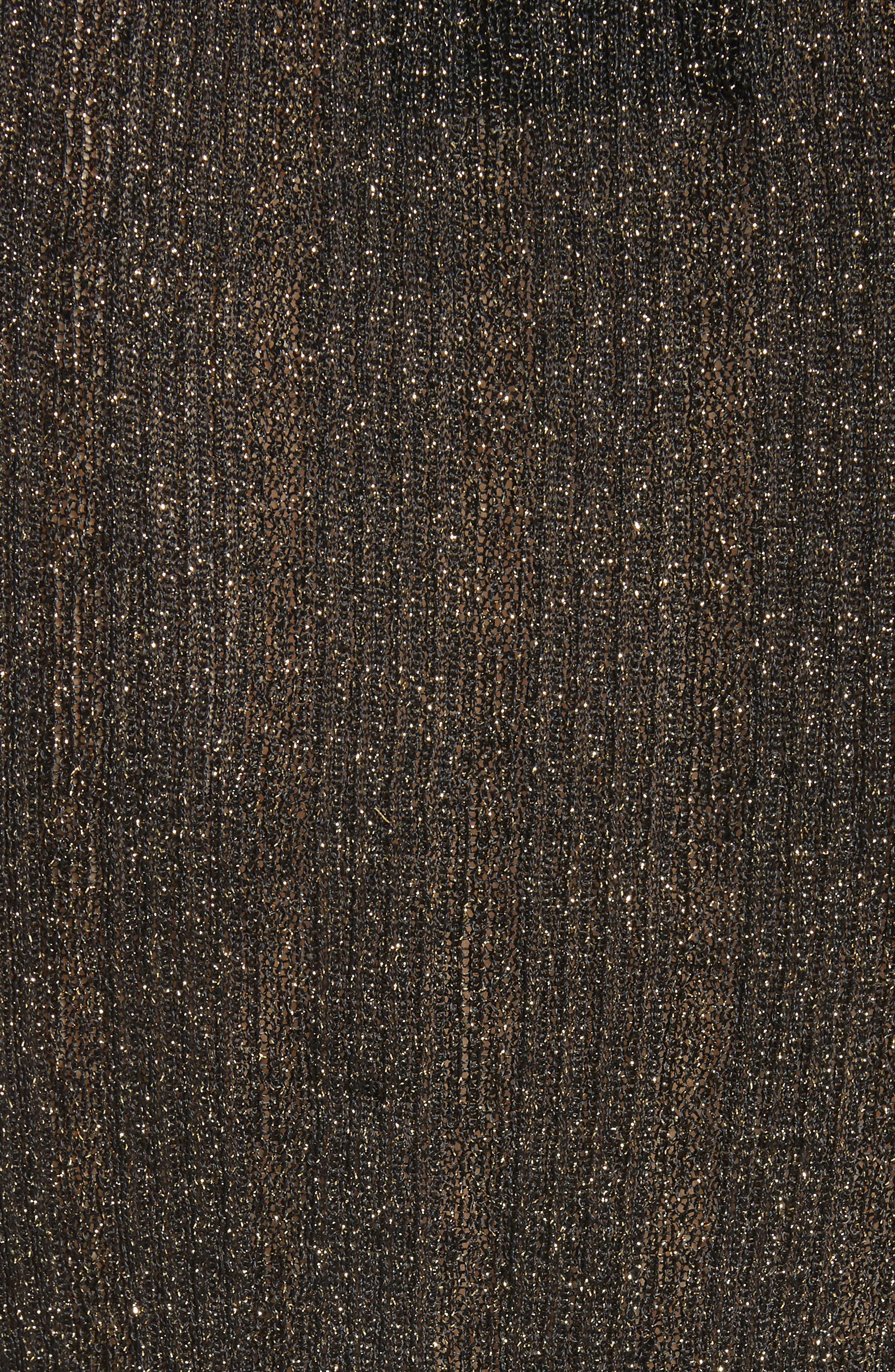 Lace Metallic Knit Top,                             Alternate thumbnail 5, color,                             011
