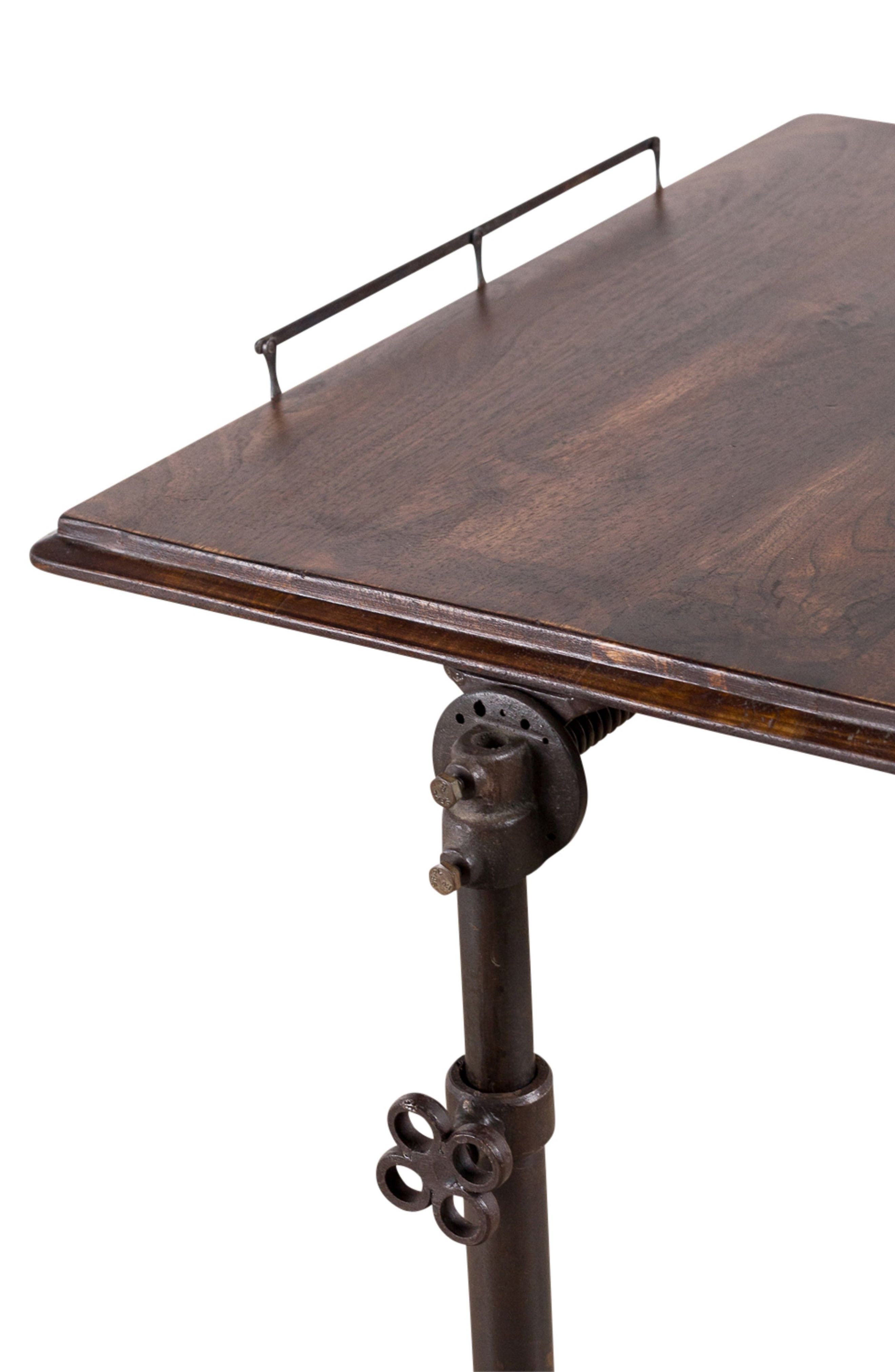 Chloe Reading Table,                             Alternate thumbnail 2, color,                             COFFEE BROWN CAST IRON