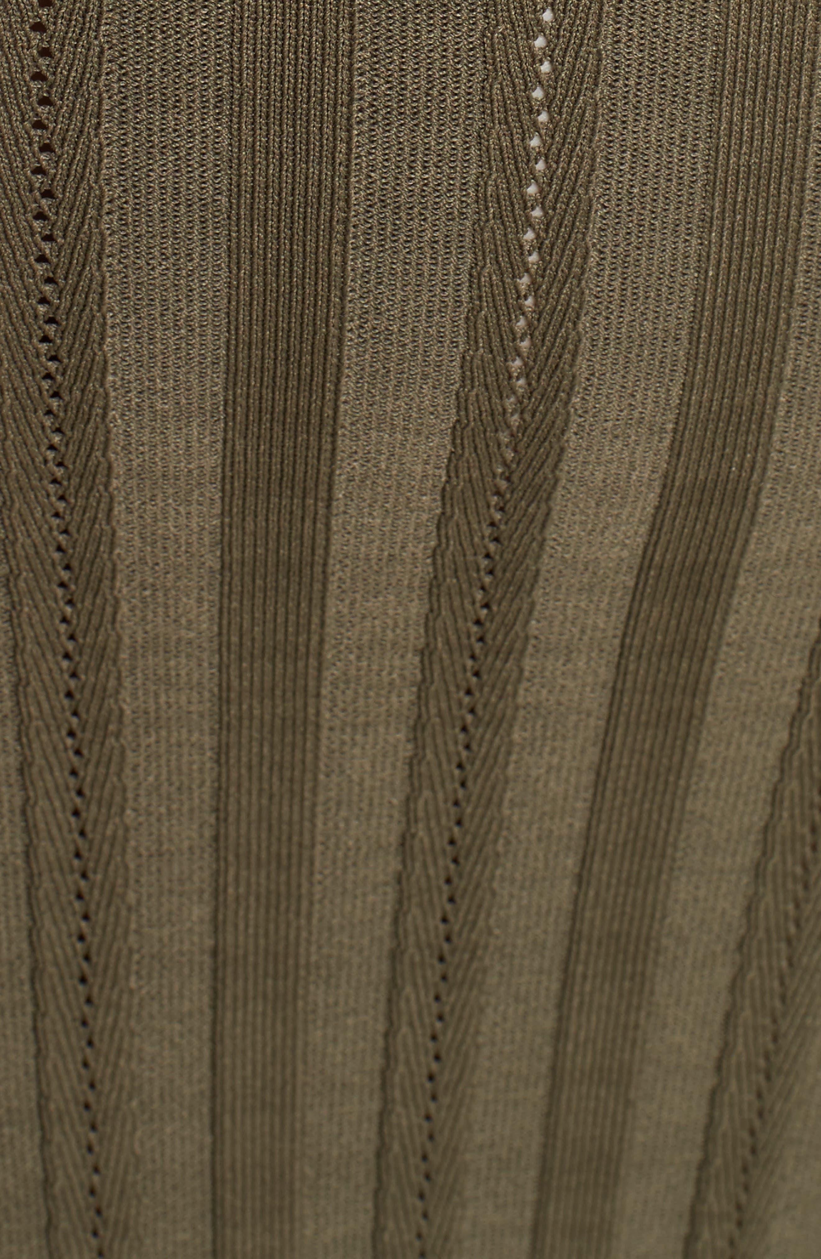 Cutout Knit Dress,                             Alternate thumbnail 5, color,                             341