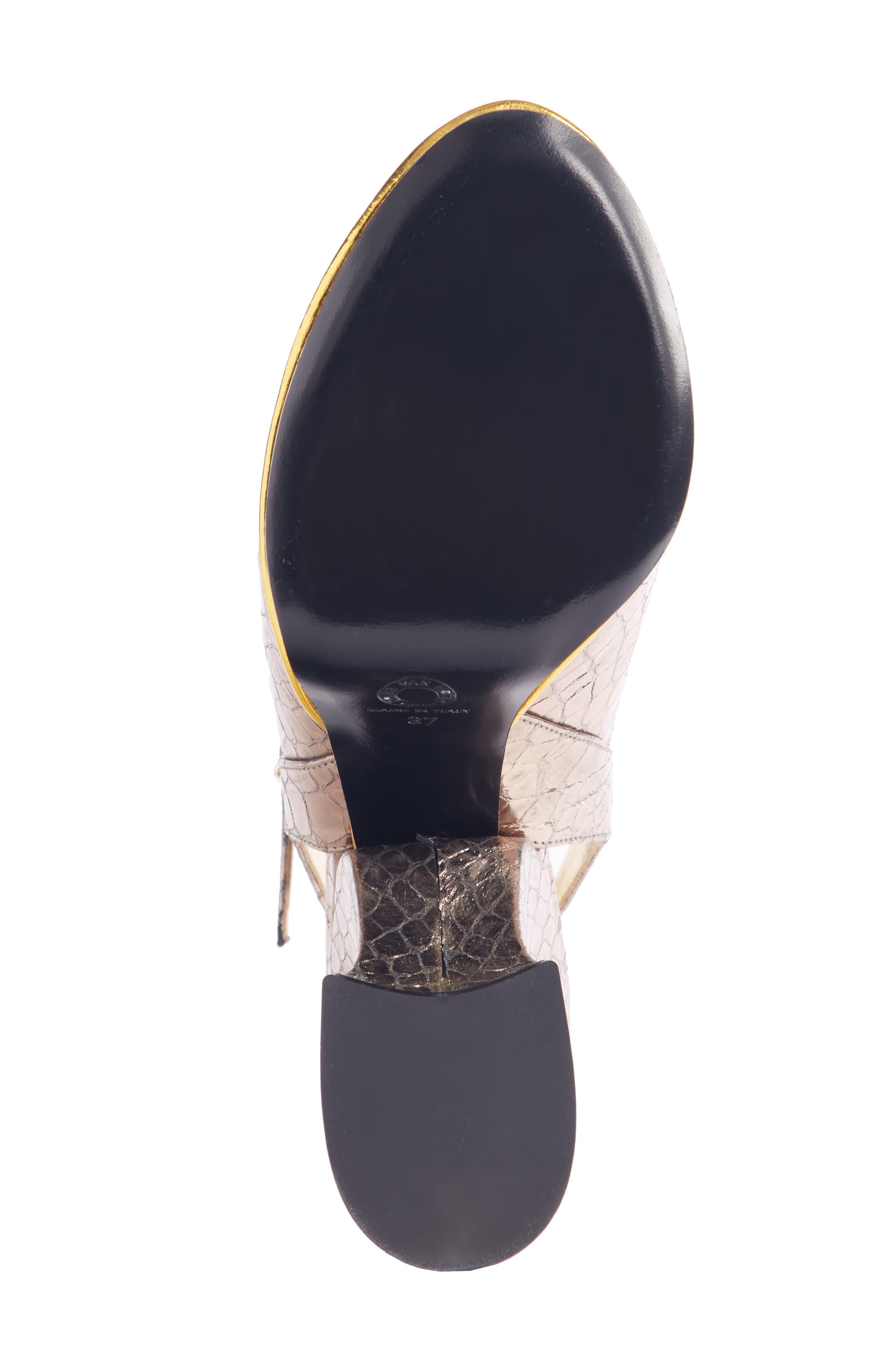 Wave Heel Platform Sandal,                             Alternate thumbnail 5, color,                             SILVER