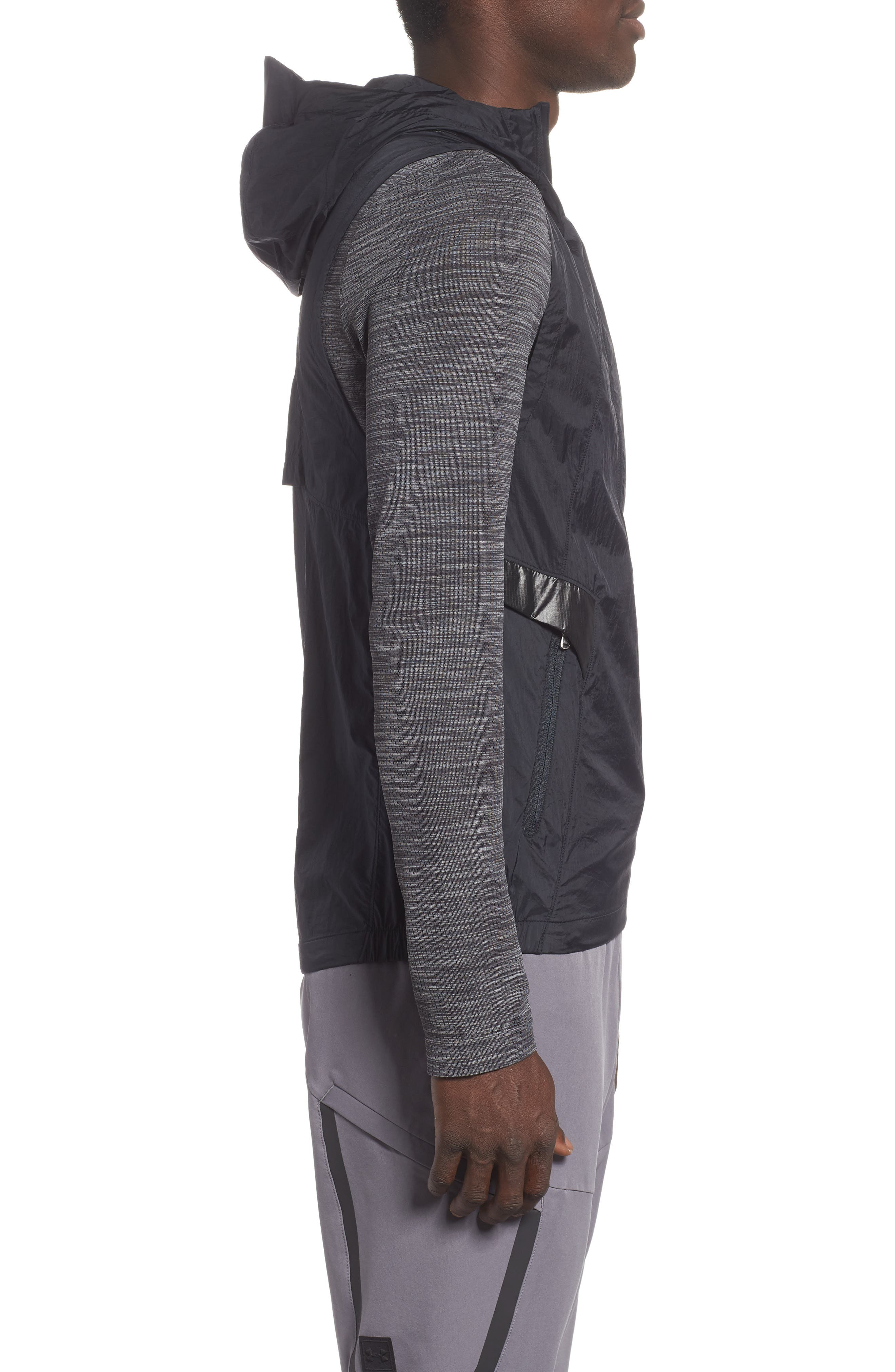 Perpetual 18 Fitted Hooded Vest,                             Alternate thumbnail 3, color,                             BLACK