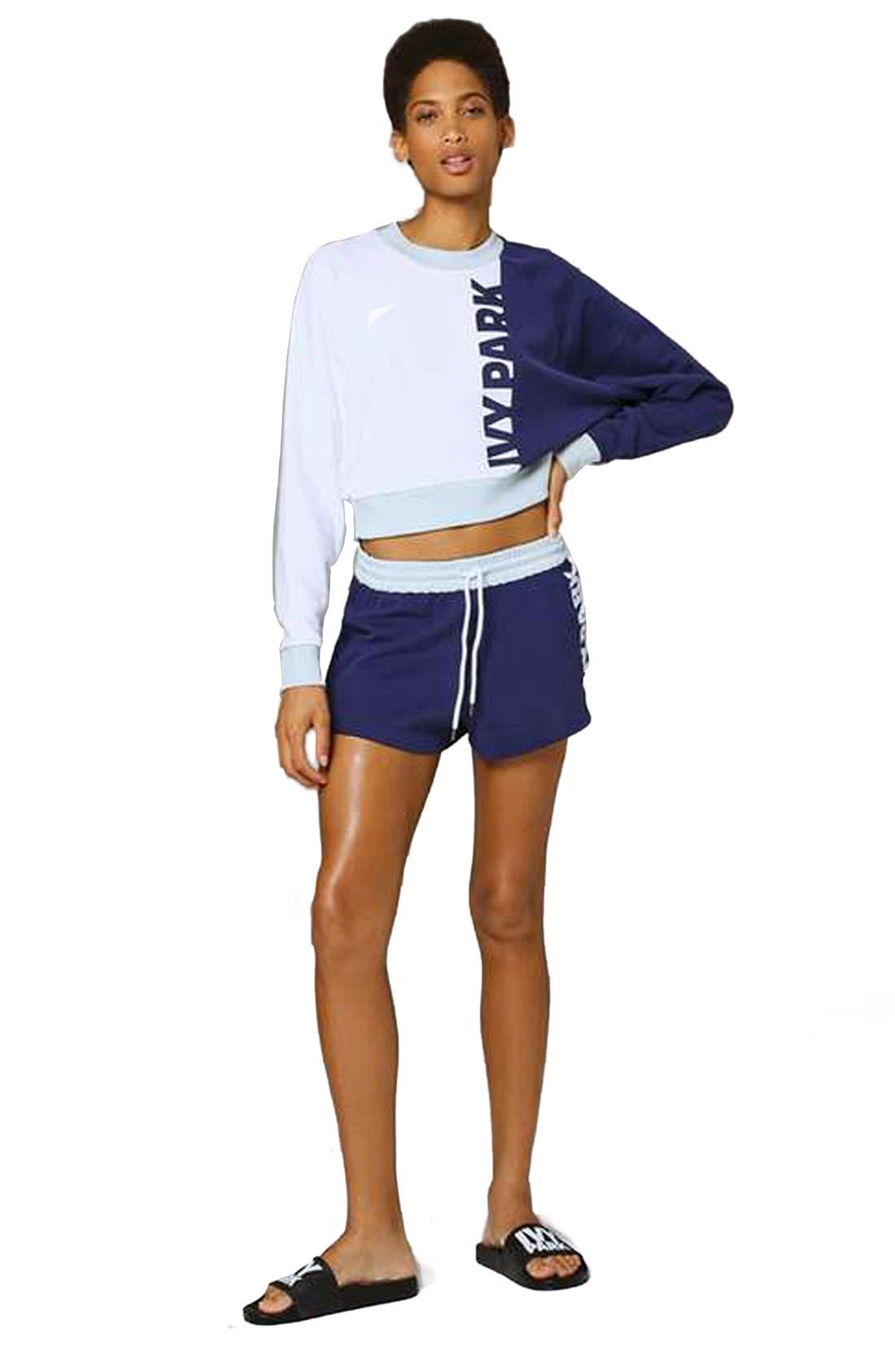 IVY PARK<SUP>®</SUP>,                             Colorblock Peached Logo Sweatshirt,                             Alternate thumbnail 4, color,                             410