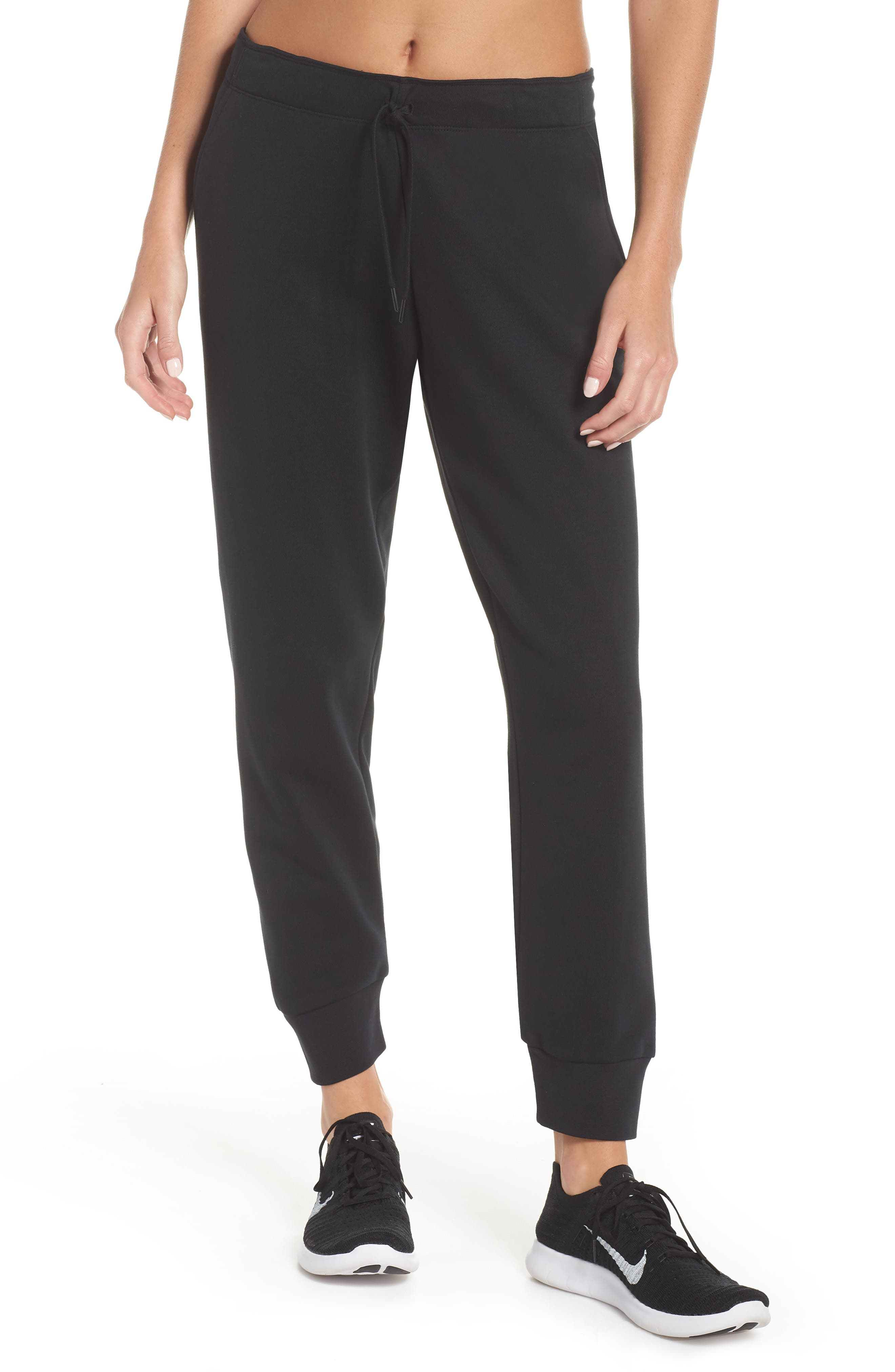 Tapered Training Pants,                         Main,                         color, BLACK/ BLACK