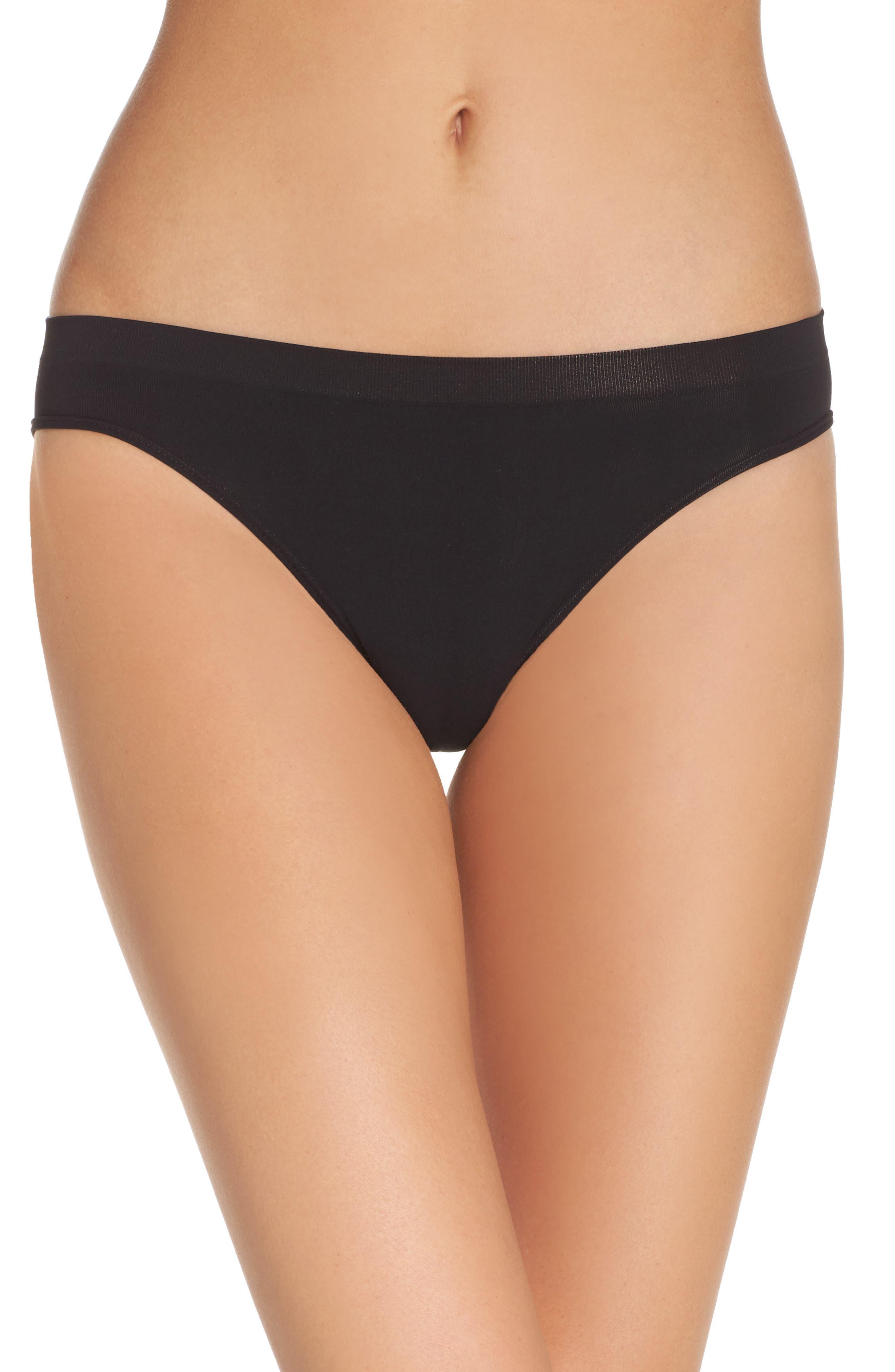 Seamless Bikini,                         Main,                         color, BLACK