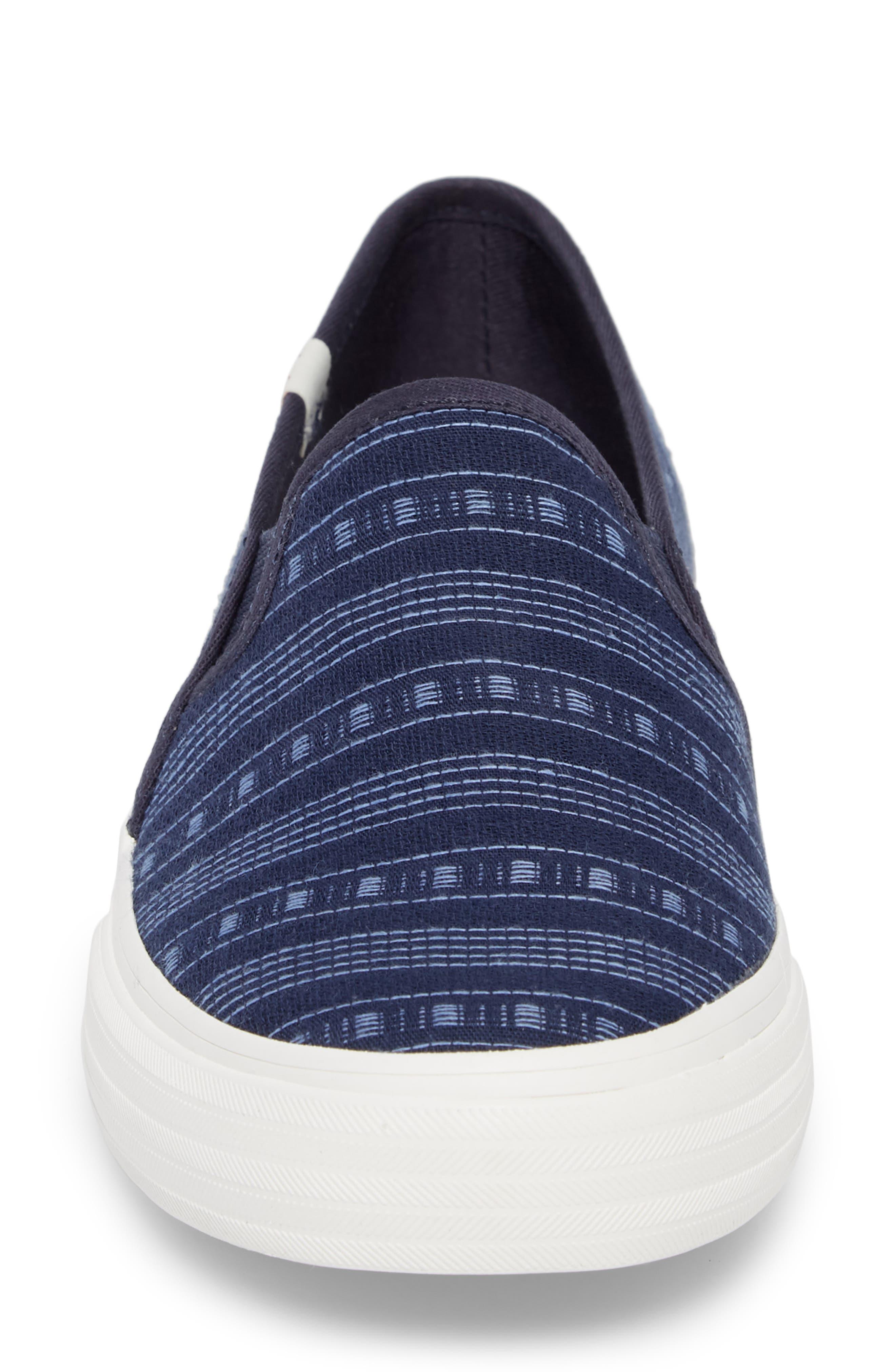 Double Decker Summer Stripe Slip-On Sneaker,                             Alternate thumbnail 4, color,                             410