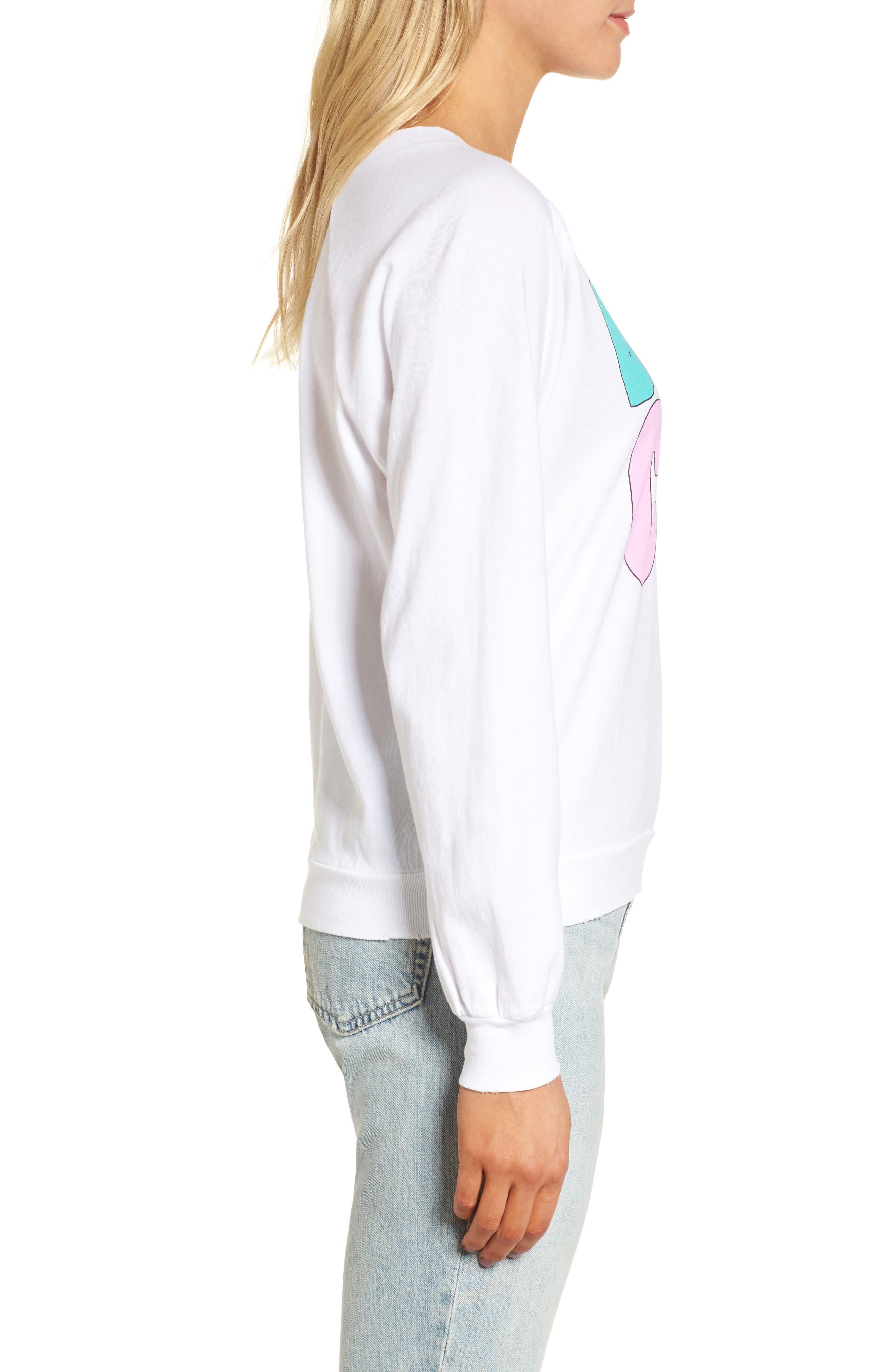 Broad City Cotton Graphic Sweatshirt,                             Alternate thumbnail 3, color,                             100