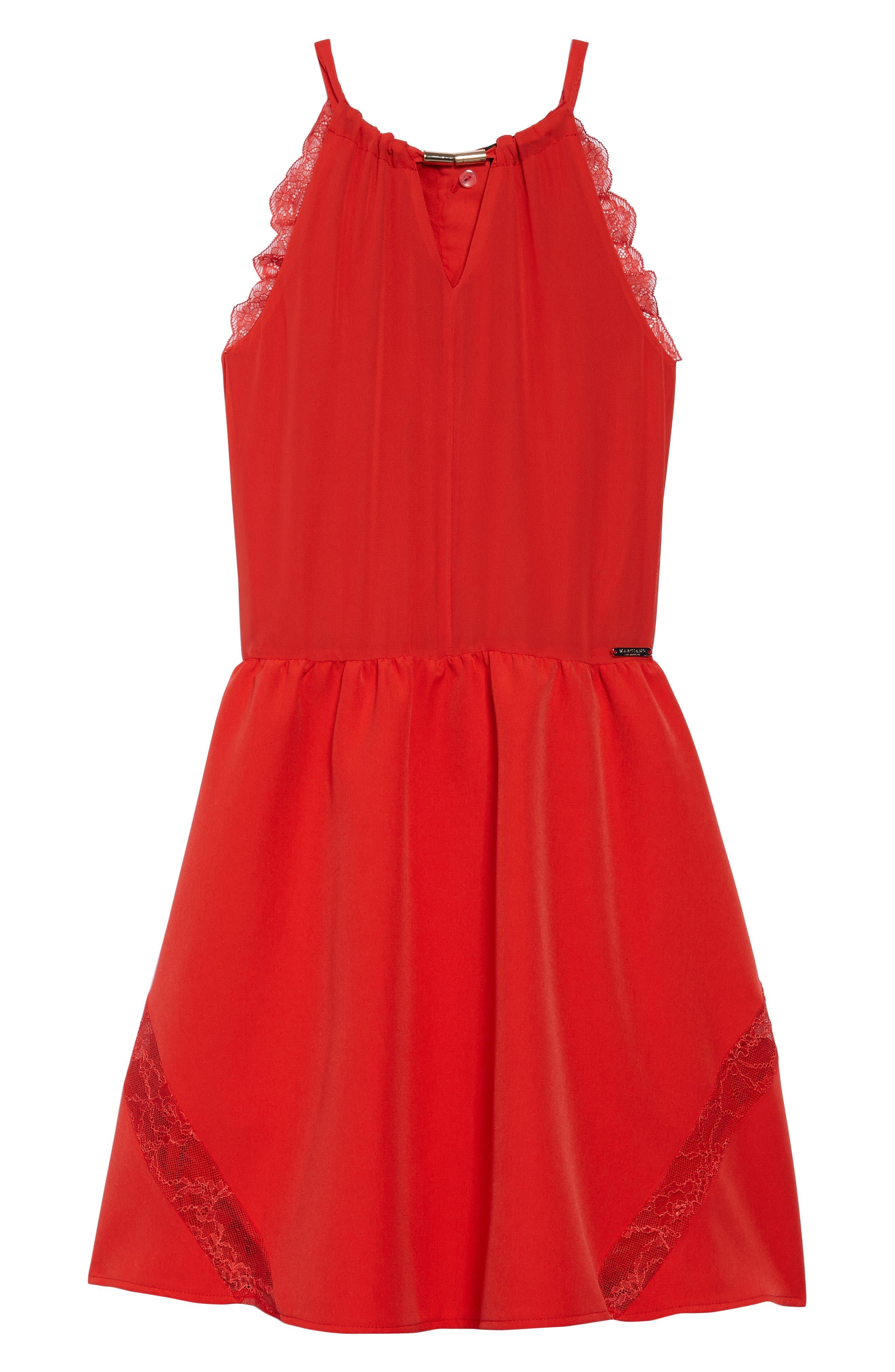 Lace Trimmed Halter Dress,                             Main thumbnail 1, color,                             600