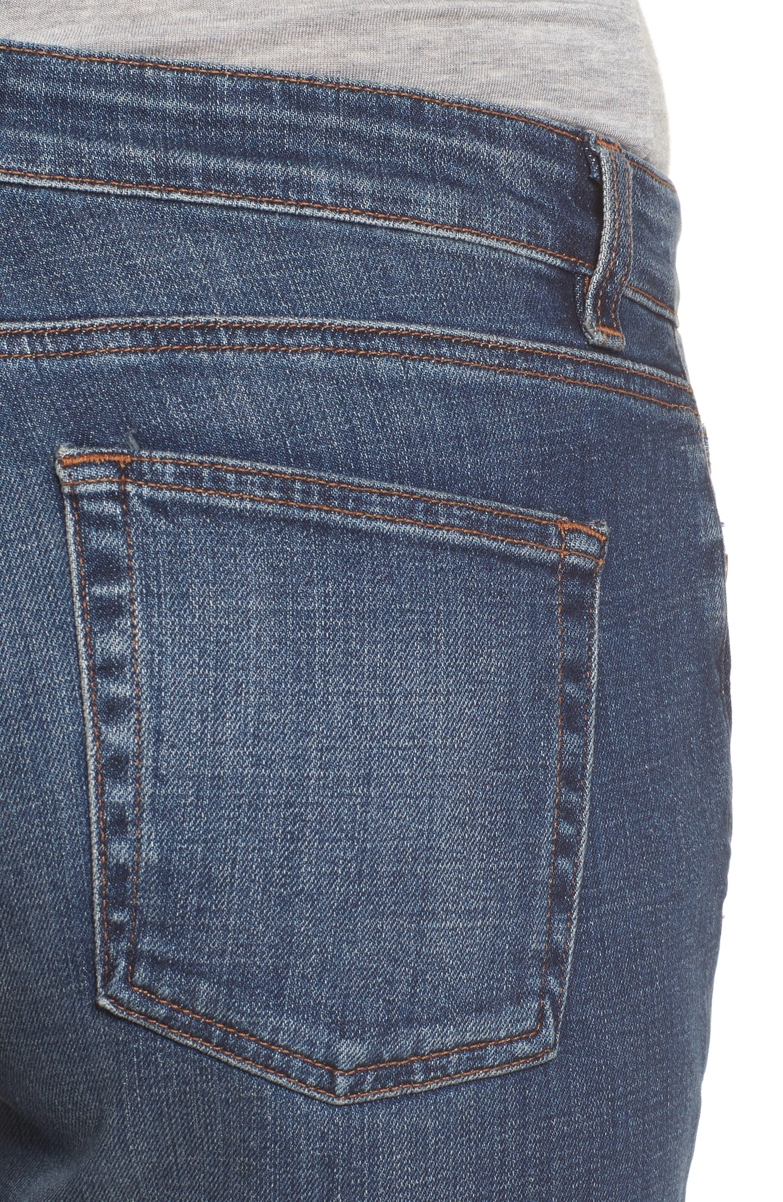Organic Cotton Boyfriend Jeans,                             Alternate thumbnail 4, color,                             400