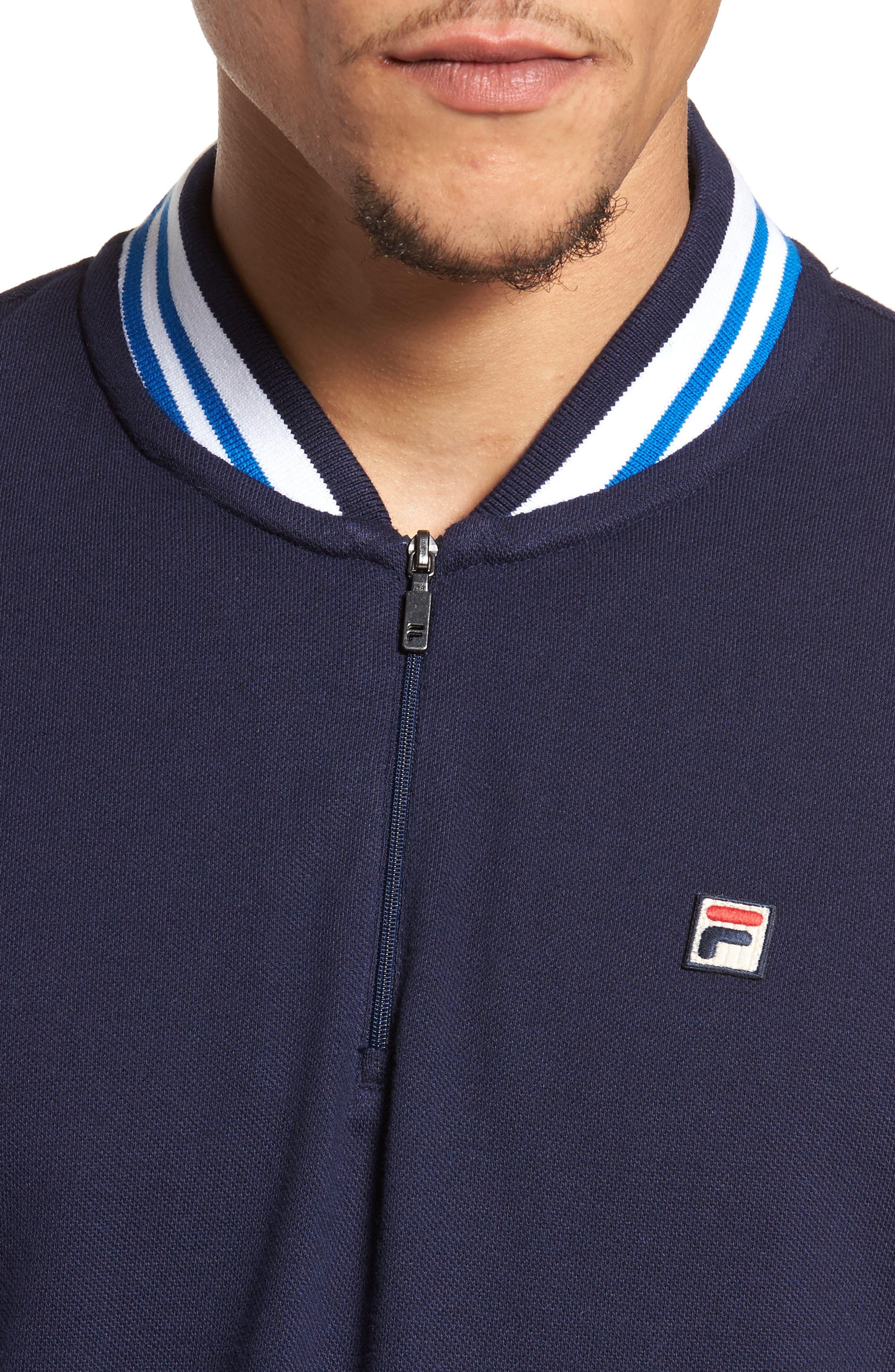Moretti Short Sleeve Zip Henley Shirt,                             Alternate thumbnail 4, color,                             001