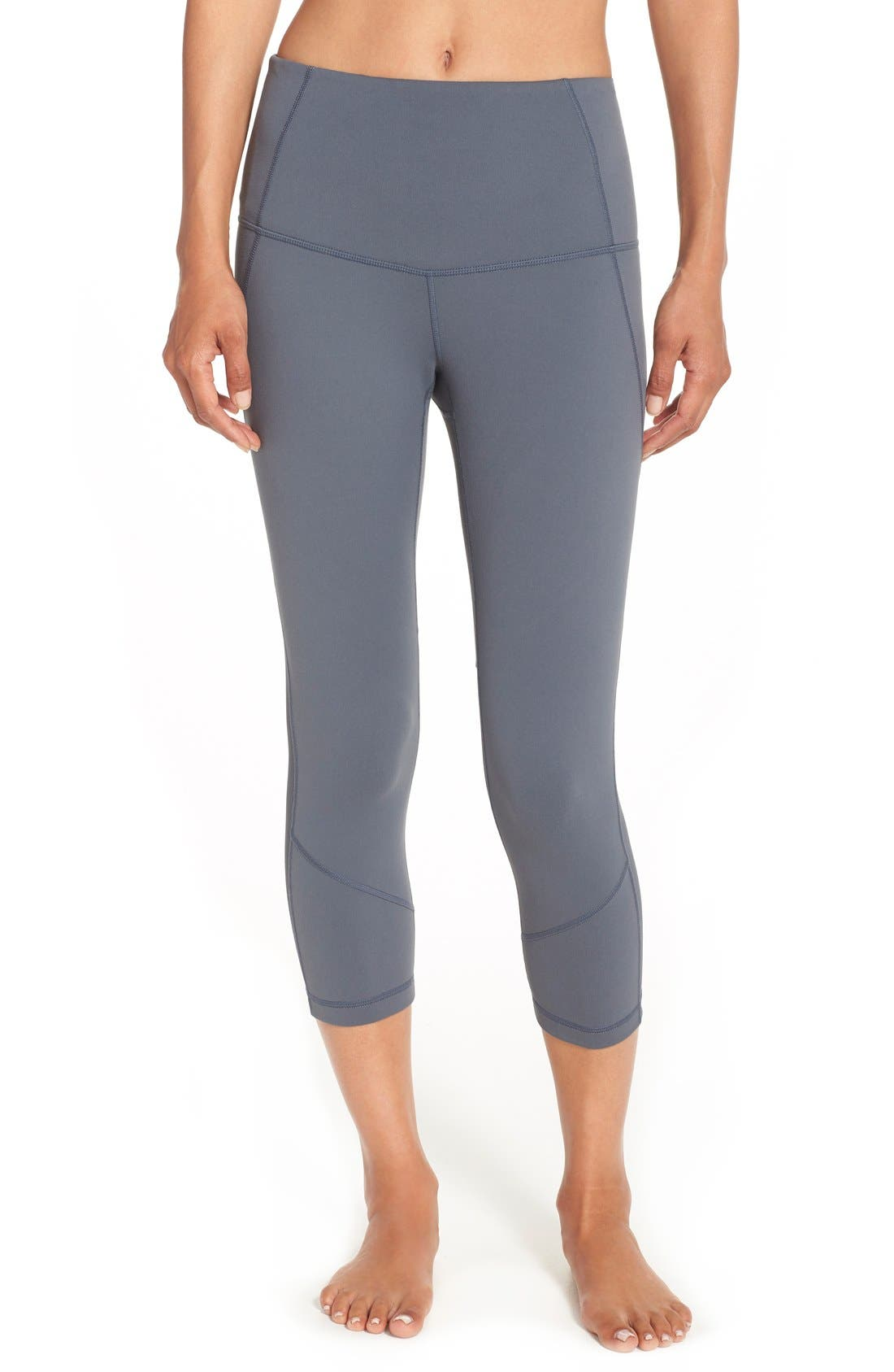 'Live In - Sultry' High Waist Mesh Crop Leggings,                             Alternate thumbnail 19, color,