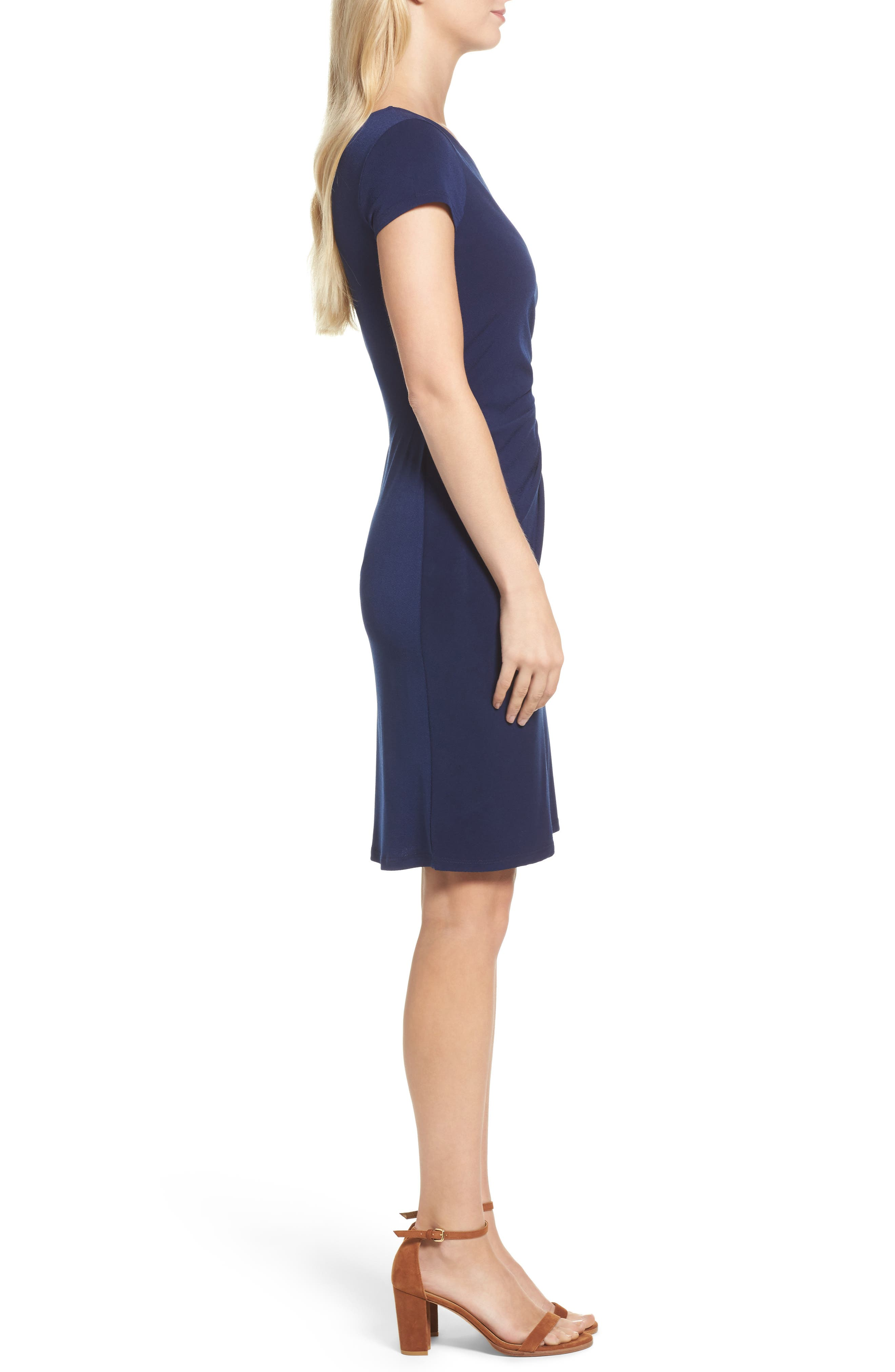 Madison Stretch Sheath Dress,                             Alternate thumbnail 9, color,