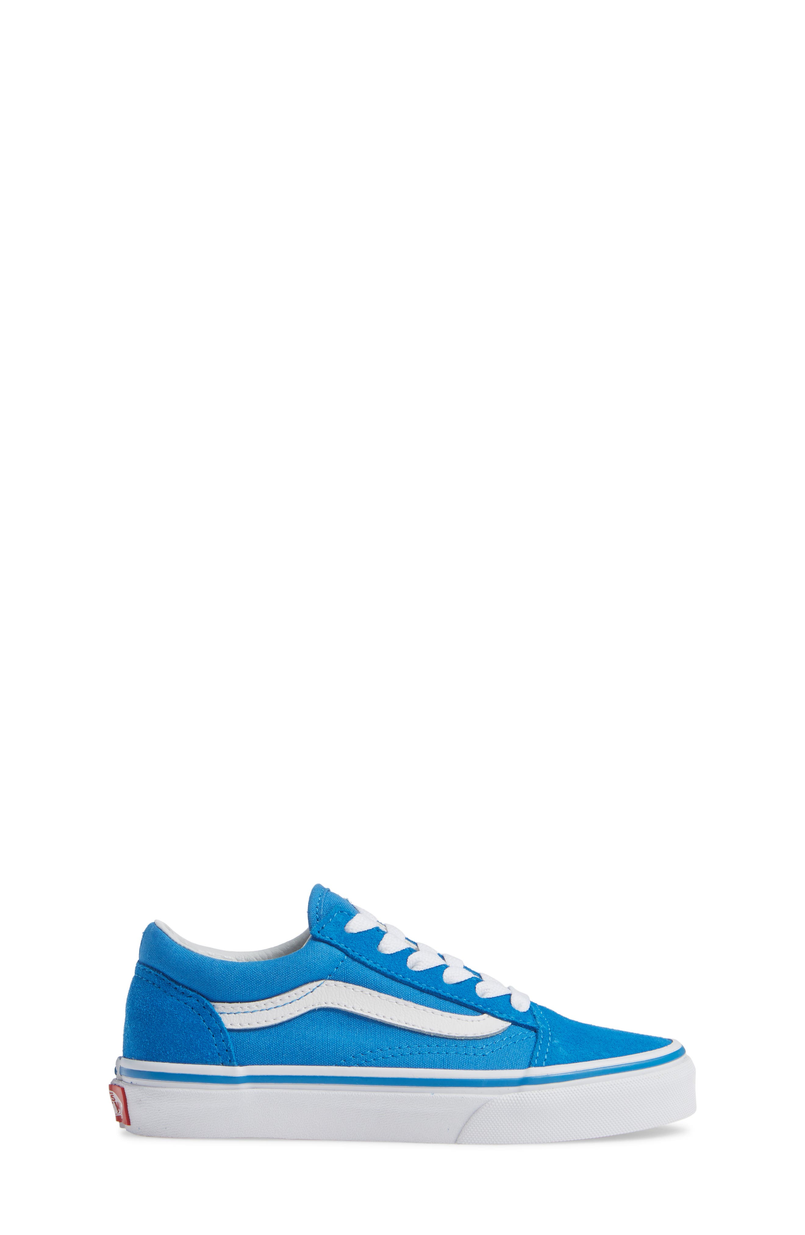 Old Skool Sneaker,                             Alternate thumbnail 3, color,                             INDIGO BUNTING/ TRUE WHITE